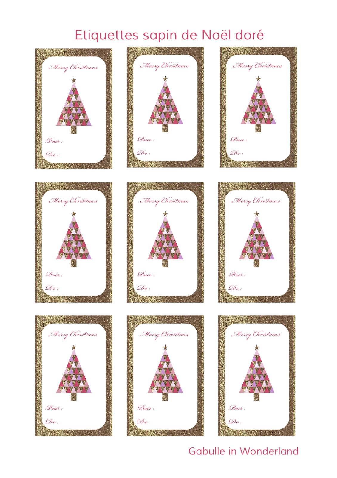 Gabulle In Wonderland: Etiquettes À Imprimer Pour Vos intérieur Etiquette Noel A Imprimer