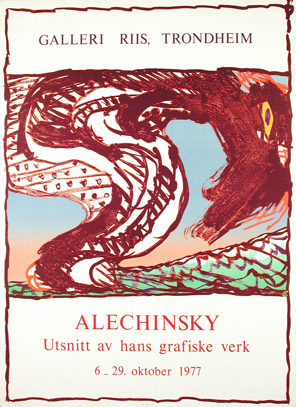 Galerie Michelle Champetier : Pierre Alechinsky / Utsnitt Av Hans Grafiske  Verk (Choix Parmi L'oeuvre Gra à Oeuvre Alechinsky