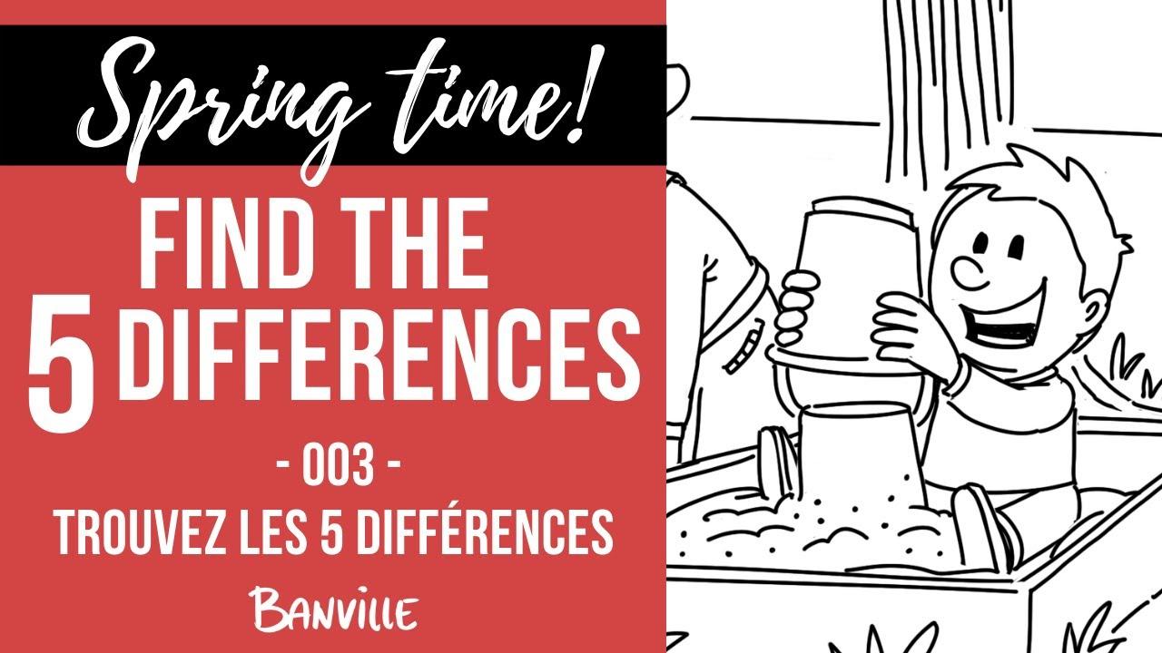 Game - Find The 5 Differences - Spring Time! Jeu Trouvez Les 5 Différences  C'est Le Printemps ! /03 avec Les 5 Differences