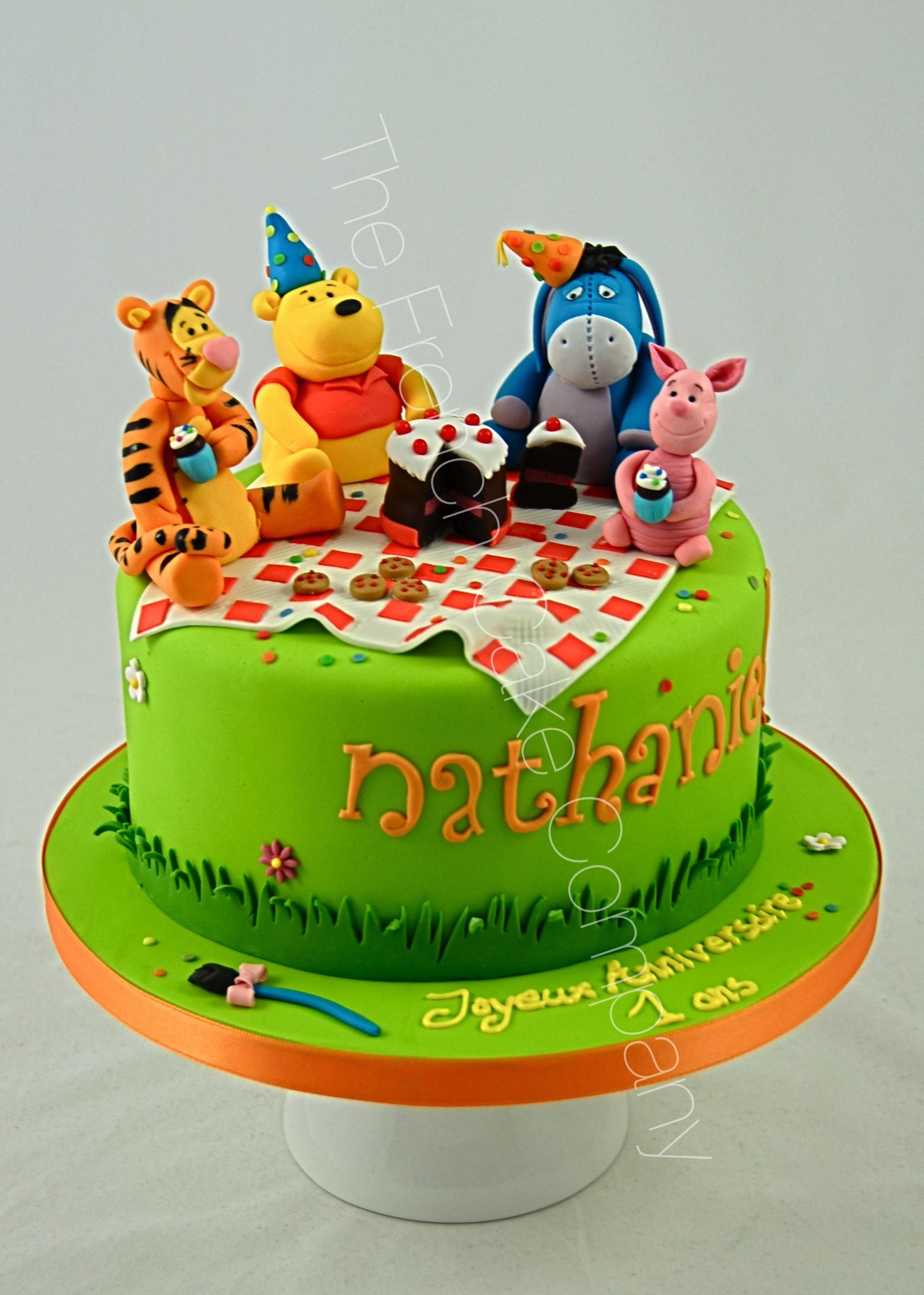 Gâteau Anniversaire Décoré Winnie - The French Cake Company pour Gateau Anniversaire Winnie L Ourson