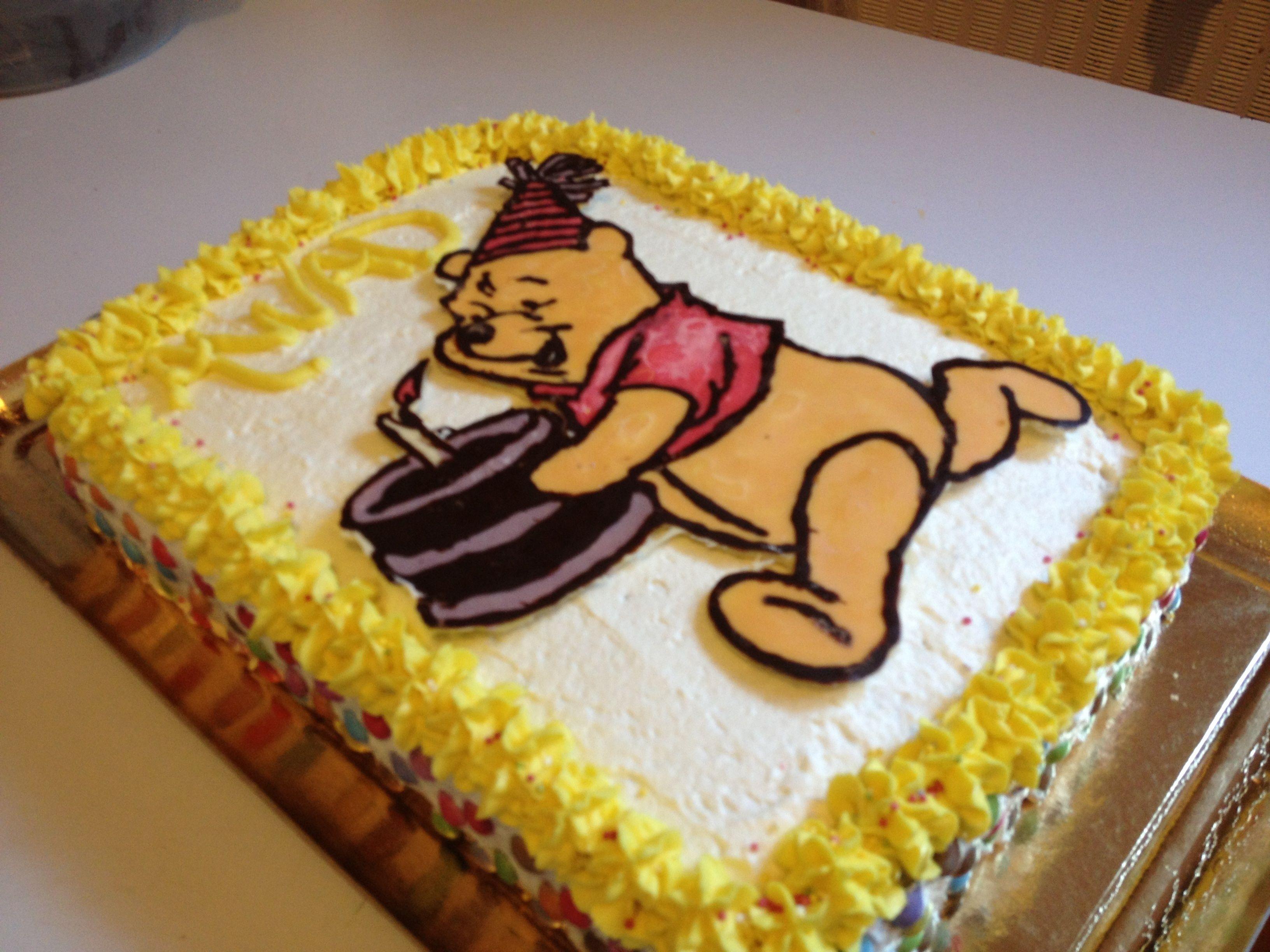 """Gâteau D'anniversaire """"winnie L'ourson """" concernant Gateau Anniversaire Winnie L Ourson"""