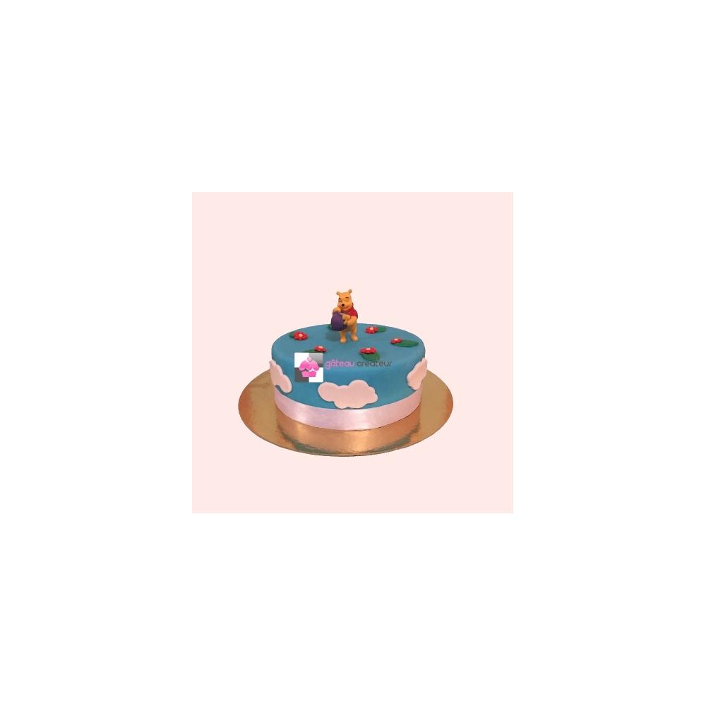 Gâteau D'anniversaire Winnie L'ourson - Fille - Gateaucreateur.fr avec Gateau Anniversaire Winnie L Ourson