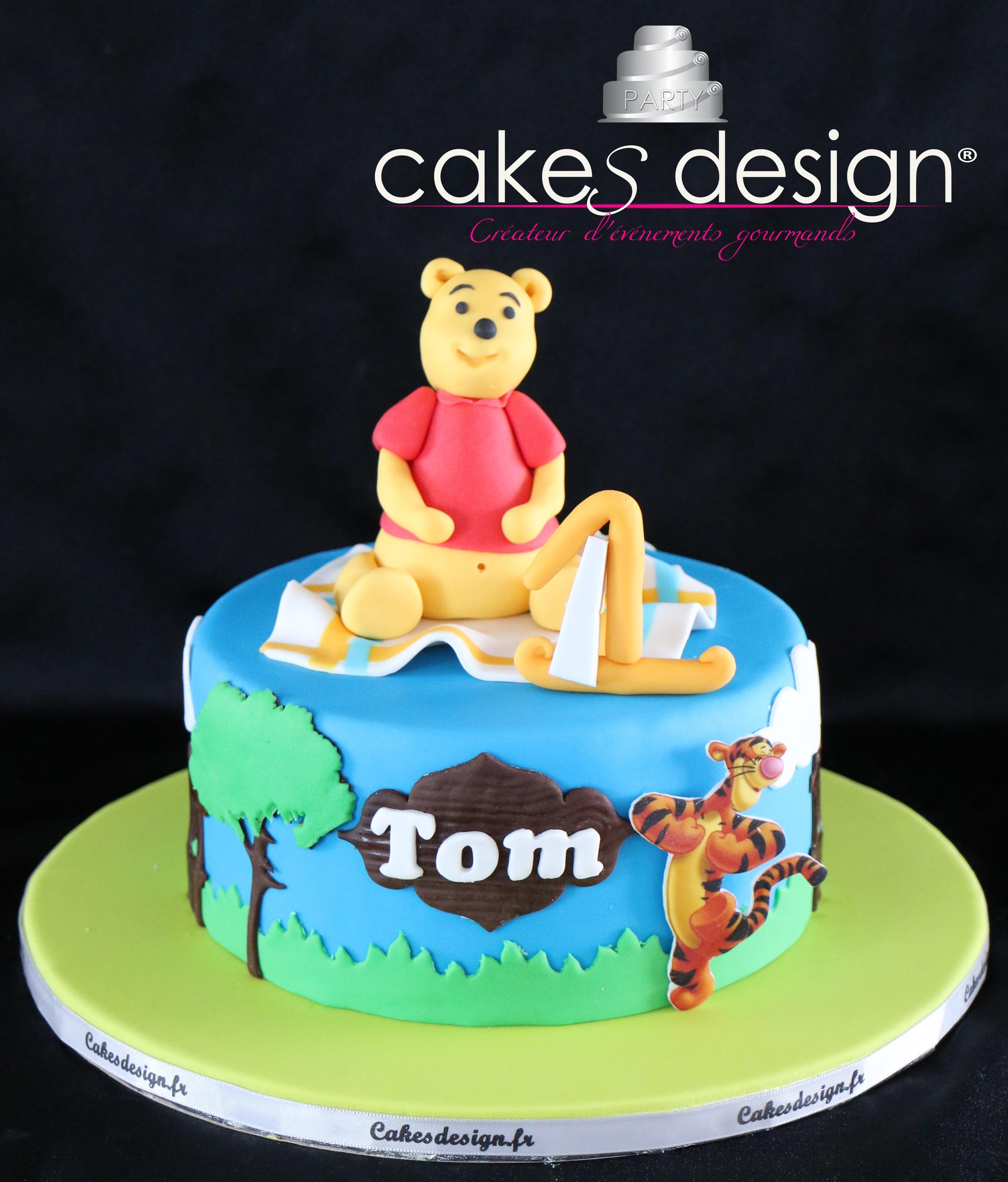 Gâteau Winni L'ourson - Cakes Design concernant Gateau Anniversaire Winnie L Ourson