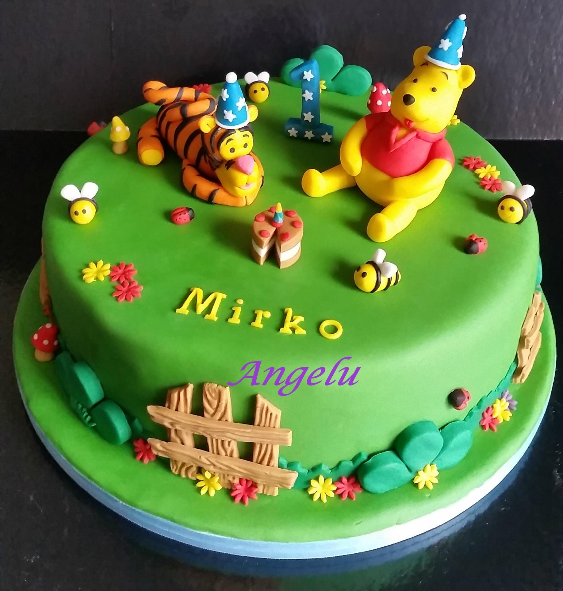 Gâteau Winnie Et Tigrou 1 An - Ma Petite Patisserie (Contact à Gateau Anniversaire Winnie L Ourson
