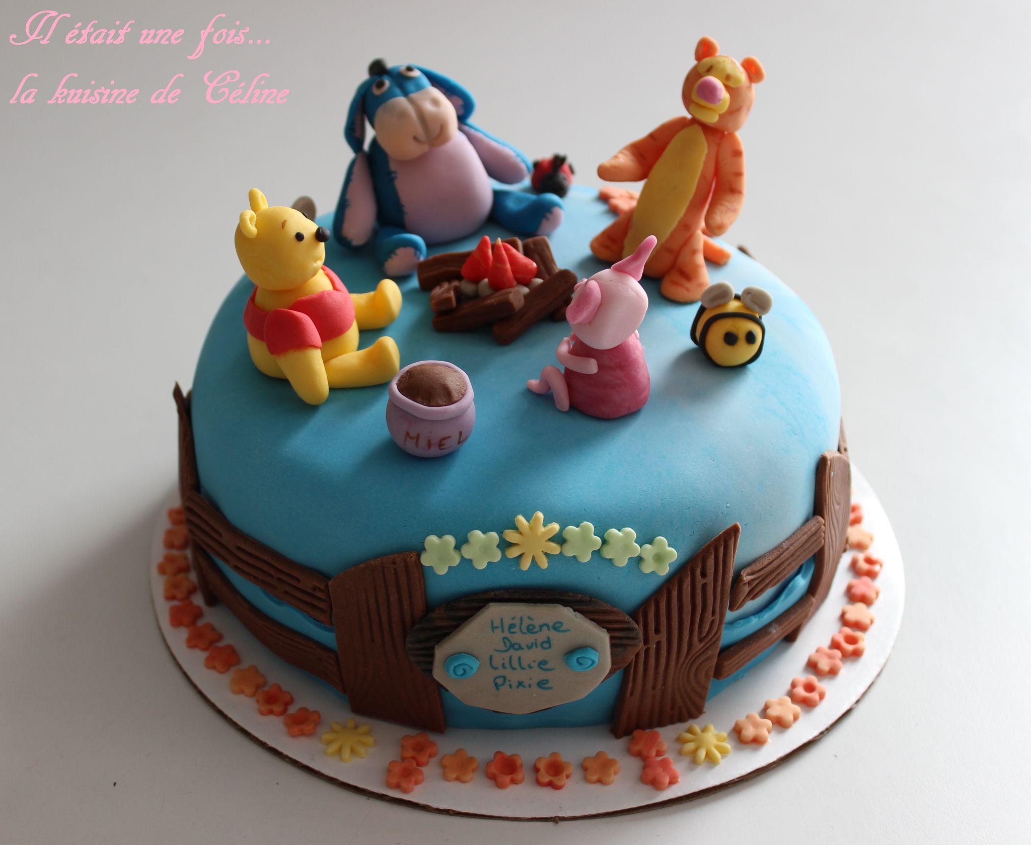 Gateau Winnie L'ourson Et Ses Amis - Winnie The Pooh Cake à Gateau Anniversaire Winnie L Ourson