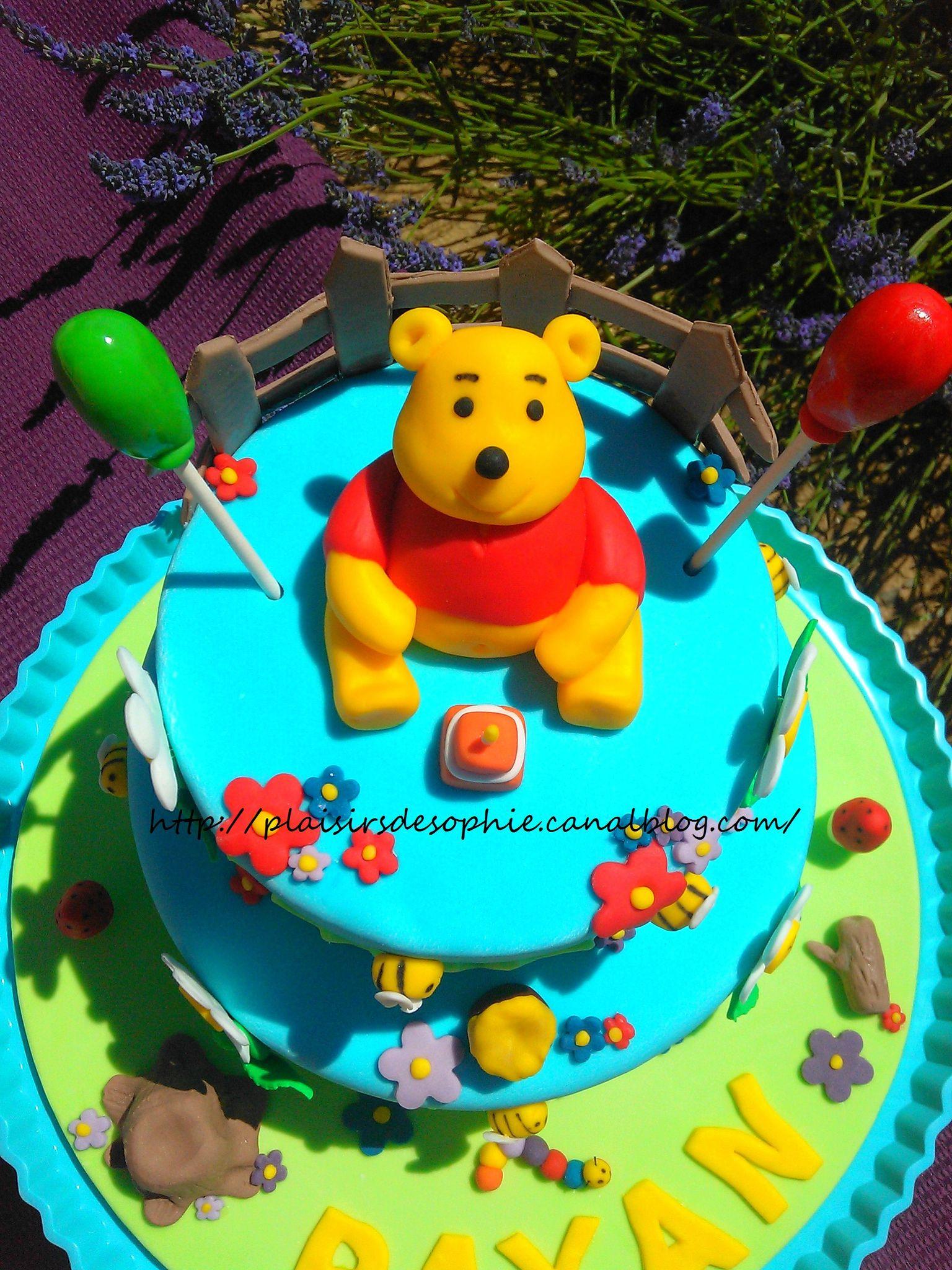 Gâteau Winnie L'ourson ! - Les Petits Plaisirs De Sophie tout Gateau Anniversaire Winnie L Ourson