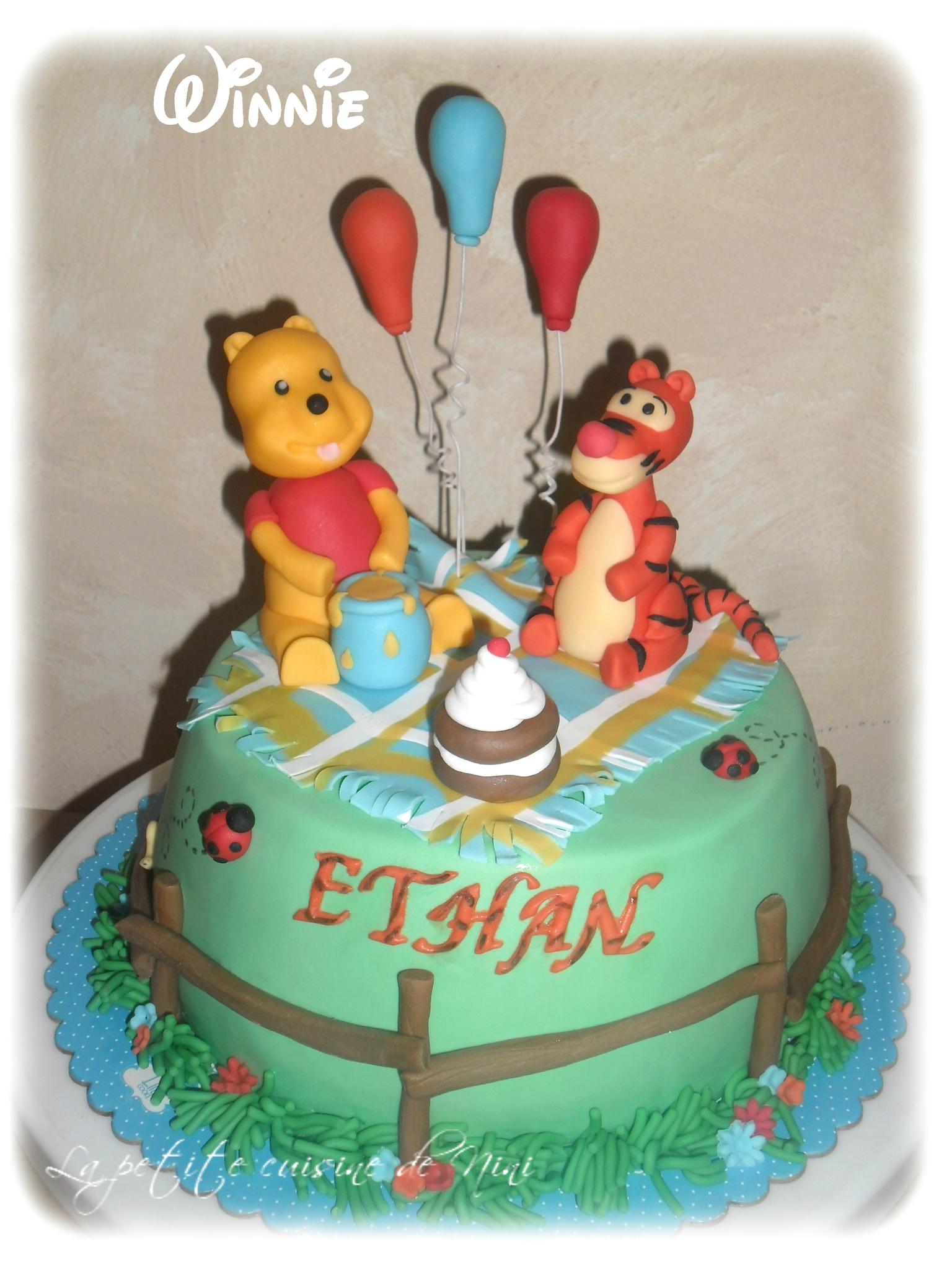 Gâteau Winnie L'ourson Pour L'anniversaire De Mon Filleul destiné Gateau Anniversaire Winnie L Ourson