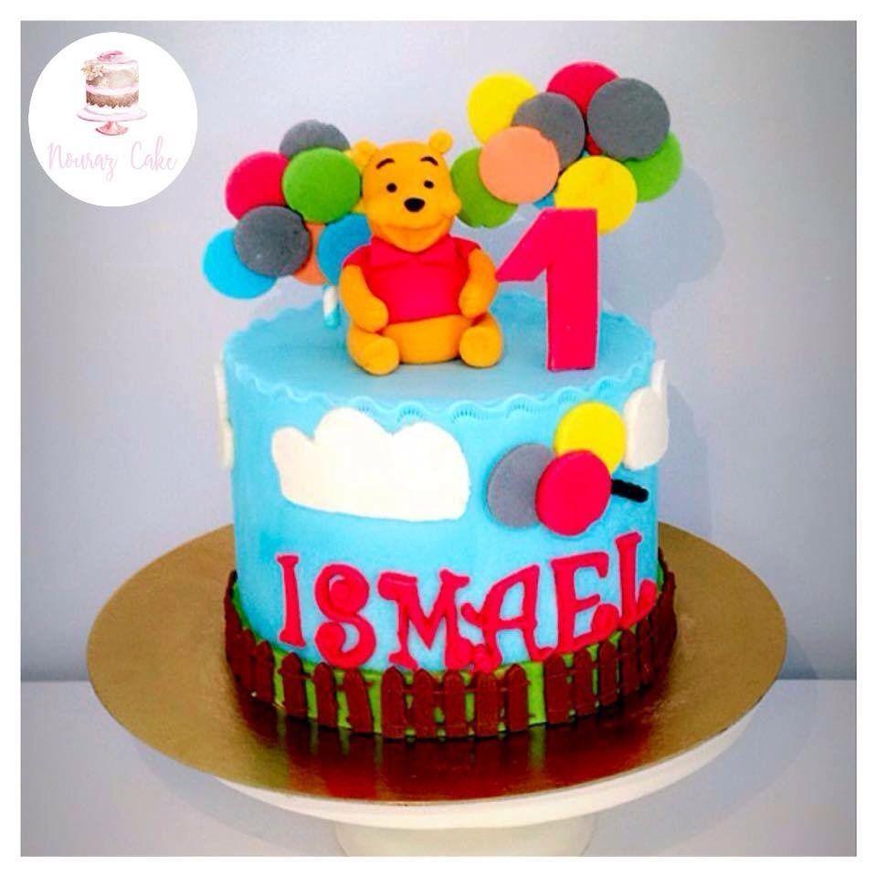 Gâteau Winnie The Pooh Winnie L'ourson Pour Le Petit Ismael à Gateau Anniversaire Winnie L Ourson