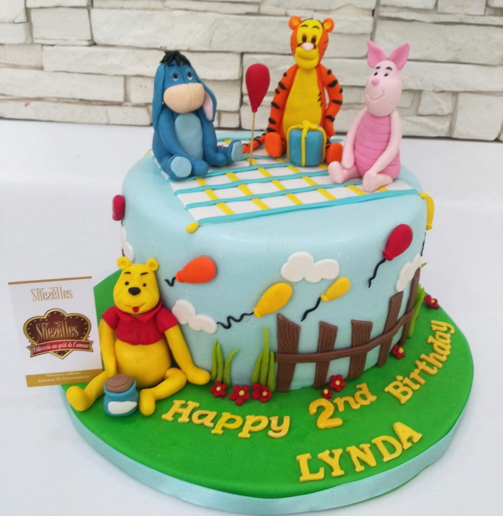 Gâteaux Winnie Ourson 3D | Pâtisserie Sheselles destiné Gateau Anniversaire Winnie L Ourson