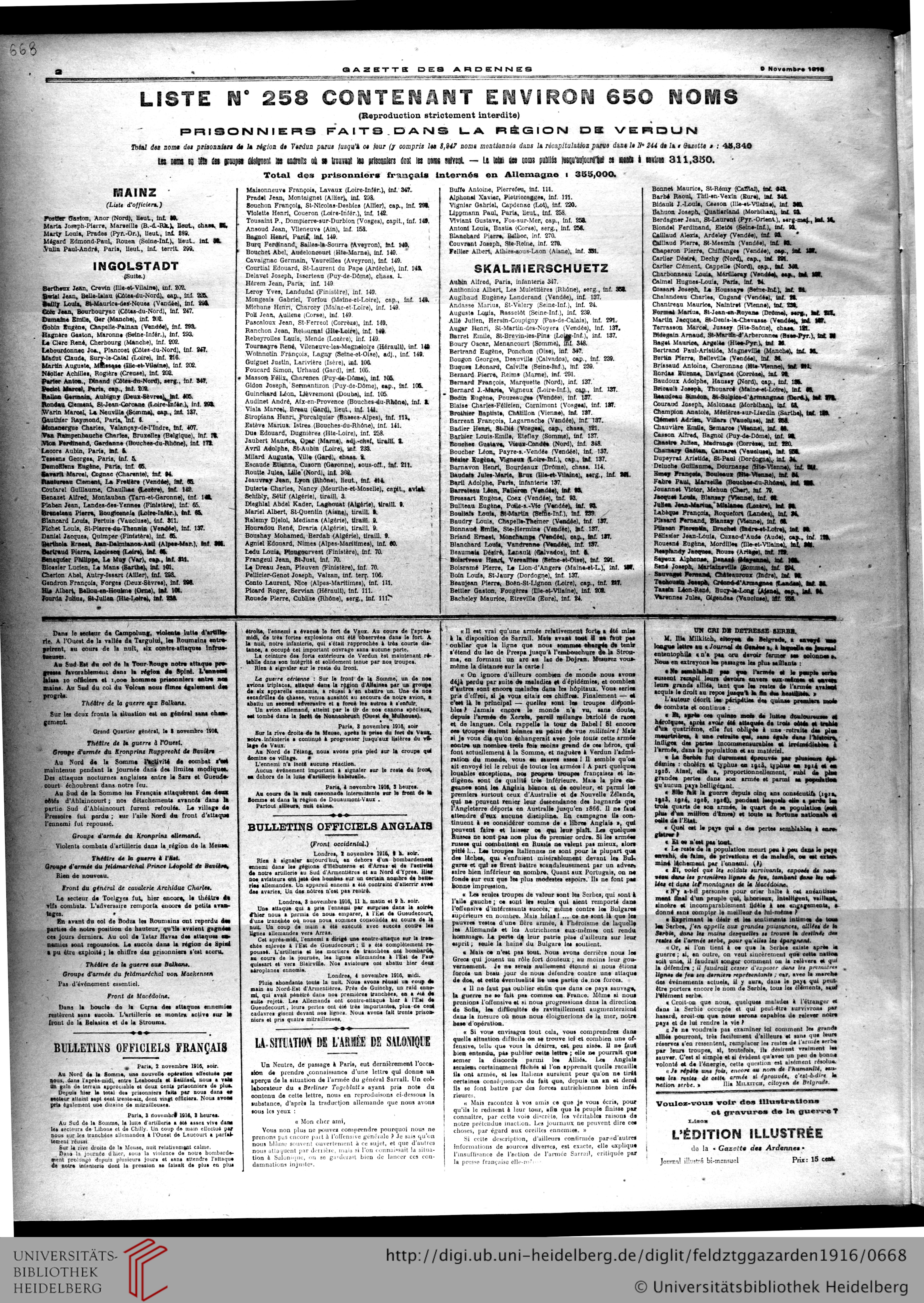 Gazette Des Ardennes: Journal Des Pays Occupés (Januar 1916 concernant Grimper En Anglais