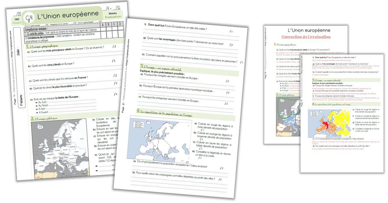 Géographie Cm2 - Séquence Complète : L'union Européenne serapportantà Union Européenne Carte Vierge
