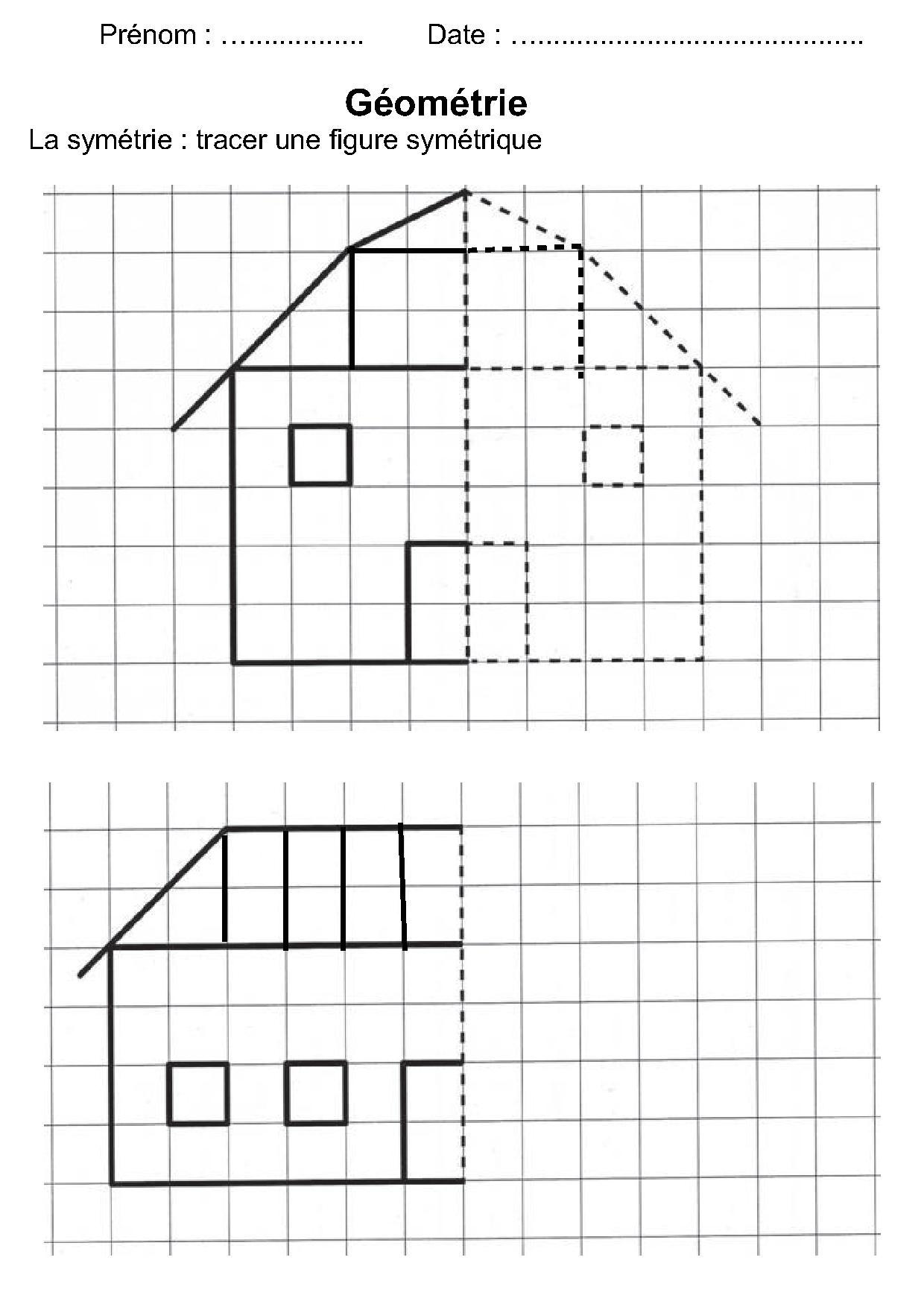 Géométrie Ce1,ce2,la Symétrie,reproduire Une Figure à Fiche Géométrie Cp