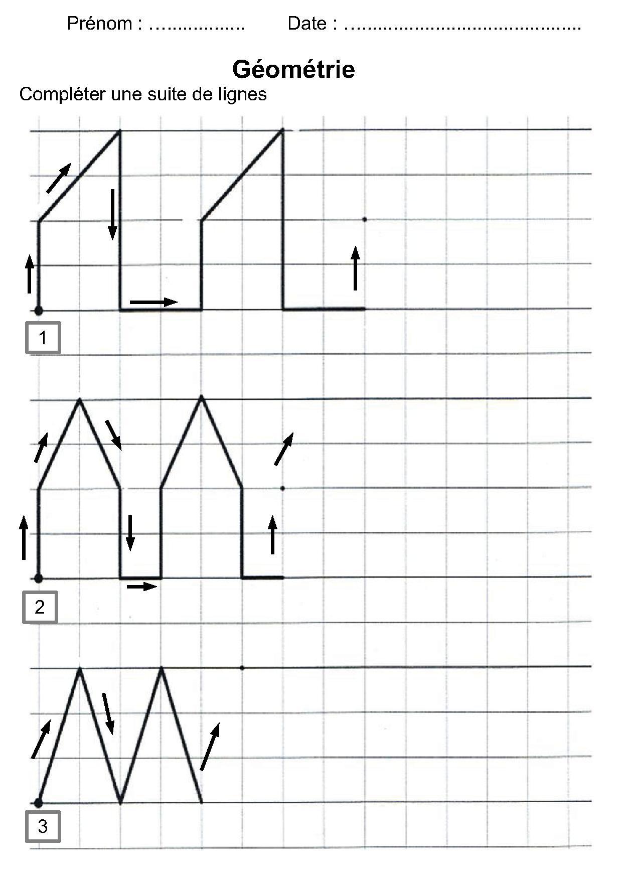 Géométrie Ce1,ce2,la Symétrie,reproduire Une Figure concernant Figures Géométriques Ce1