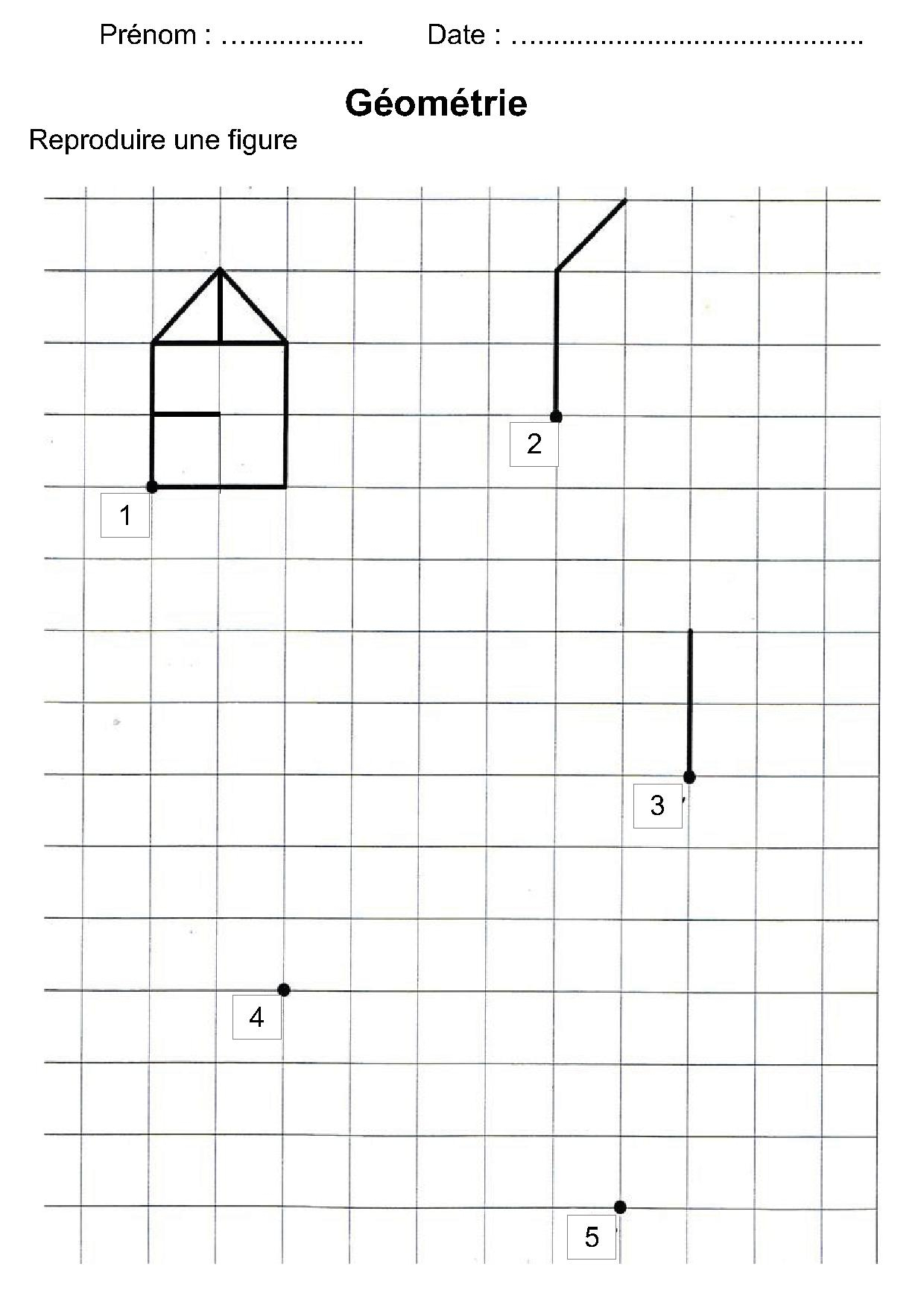 Géométrie Ce1,ce2,la Symétrie,reproduire Une Figure dedans Figures Géométriques Ce1