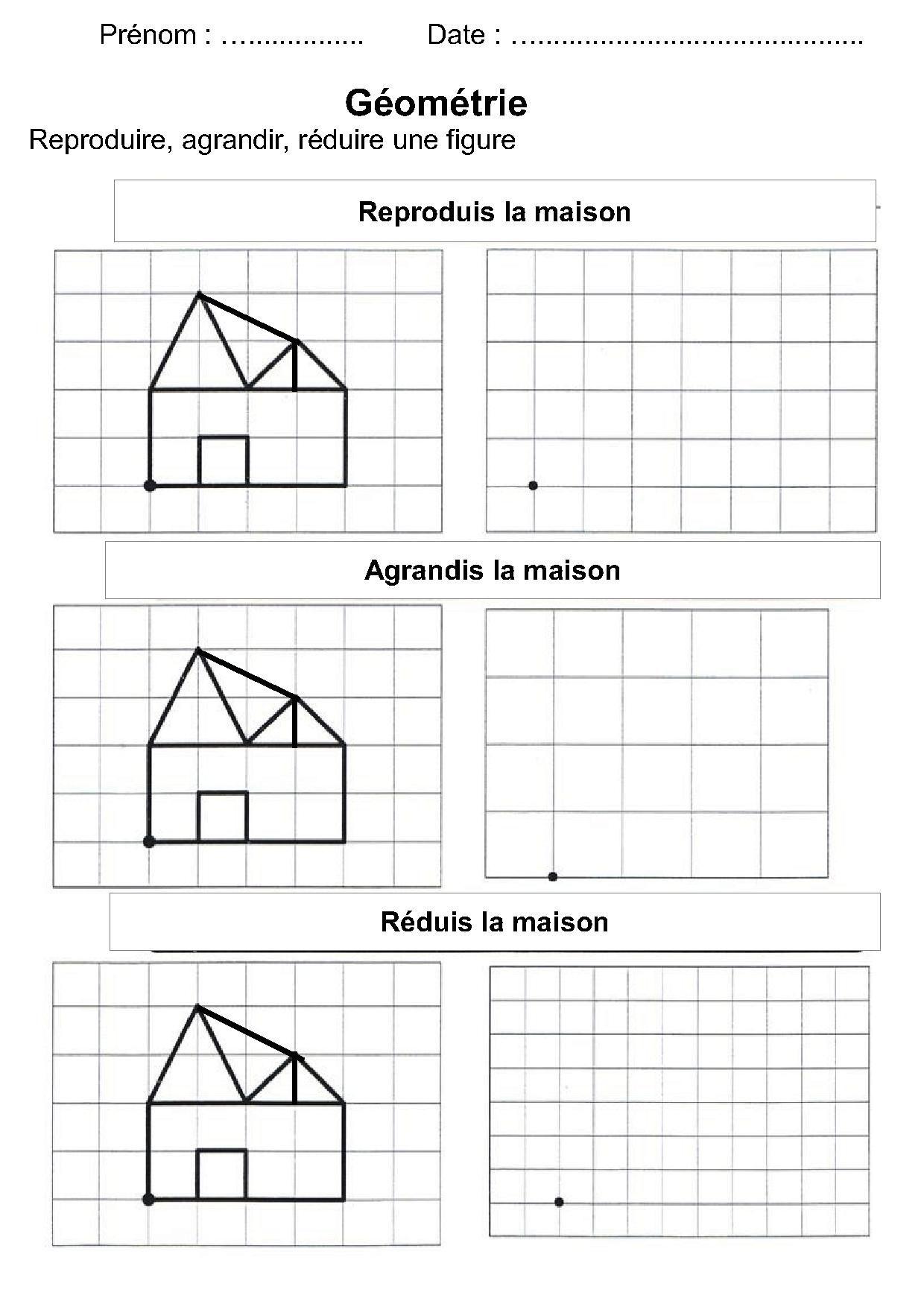 Géométrie Ce1,ce2,la Symétrie,reproduire Une Figure pour Figures Géométriques Ce1