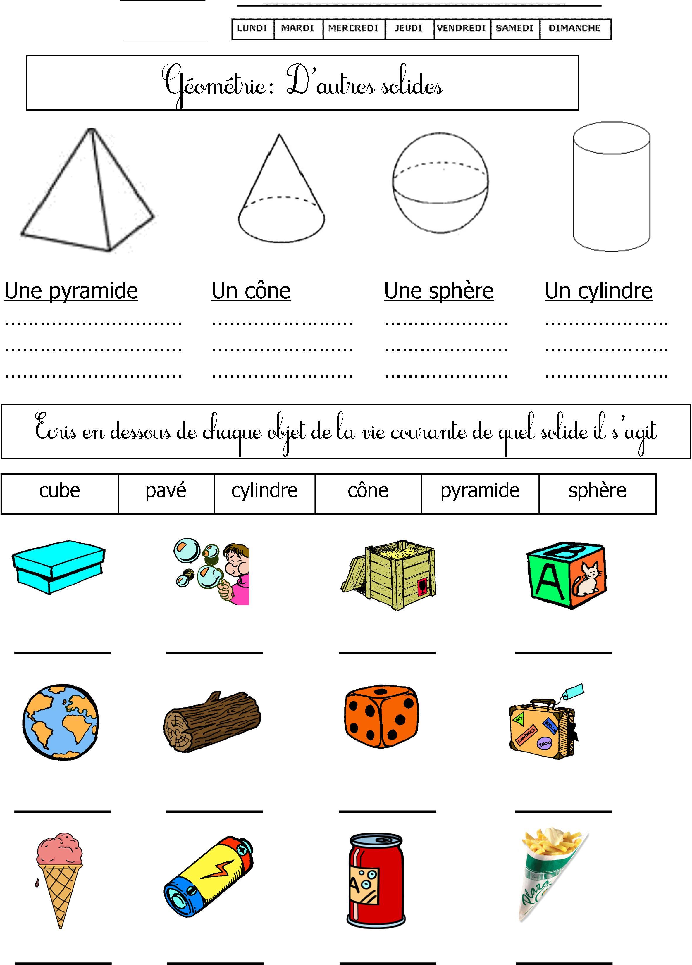 Géométrie Cp | Le Blog De Monsieur Mathieu destiné Fiche Géométrie Cp