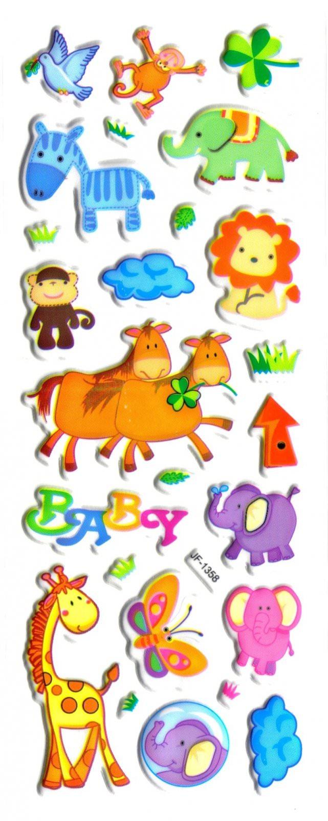 Gommettes Animaux -Gommettes Autocollantes Animaux encequiconcerne Apprendre Les Animaux Pour Bebe