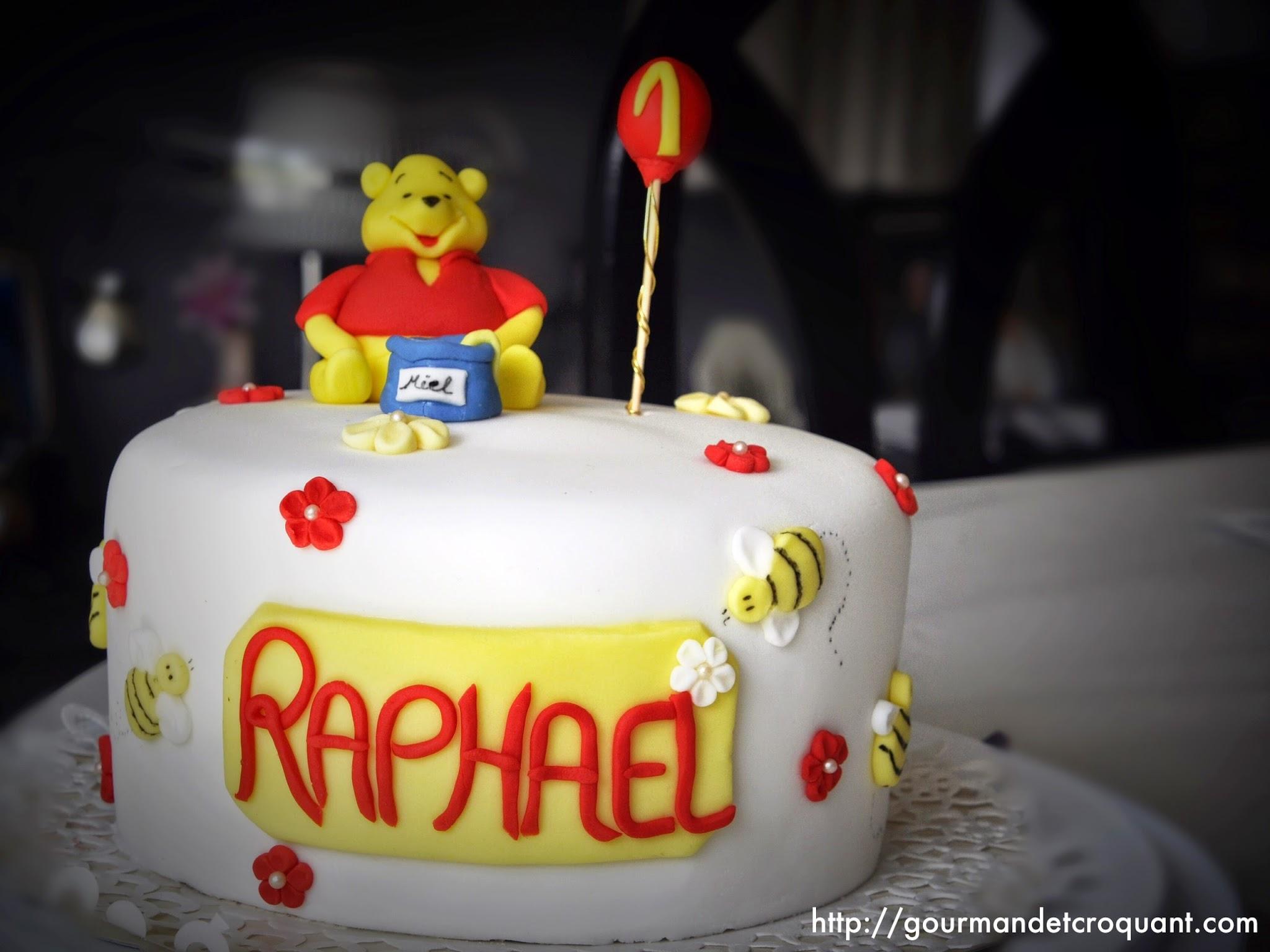 Gourmand Et Croquant: Gâteau D'anniversaire Winnie L'ourson destiné Gateau Anniversaire Winnie L Ourson