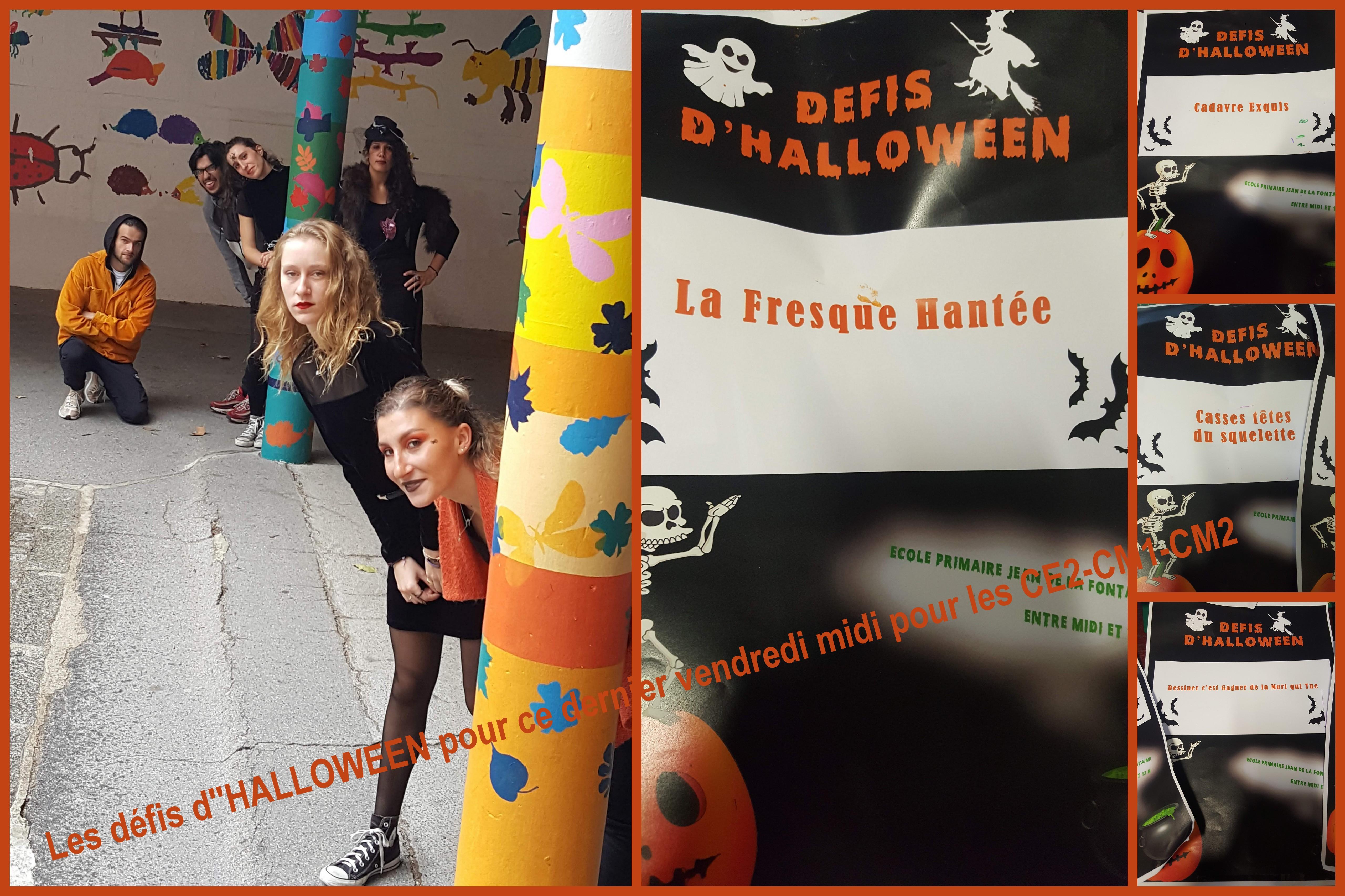 Grand Défi D'halloween: Temps Méridien Ce2-Cm1-Cm2 | Ecole intérieur Halloween Ce2
