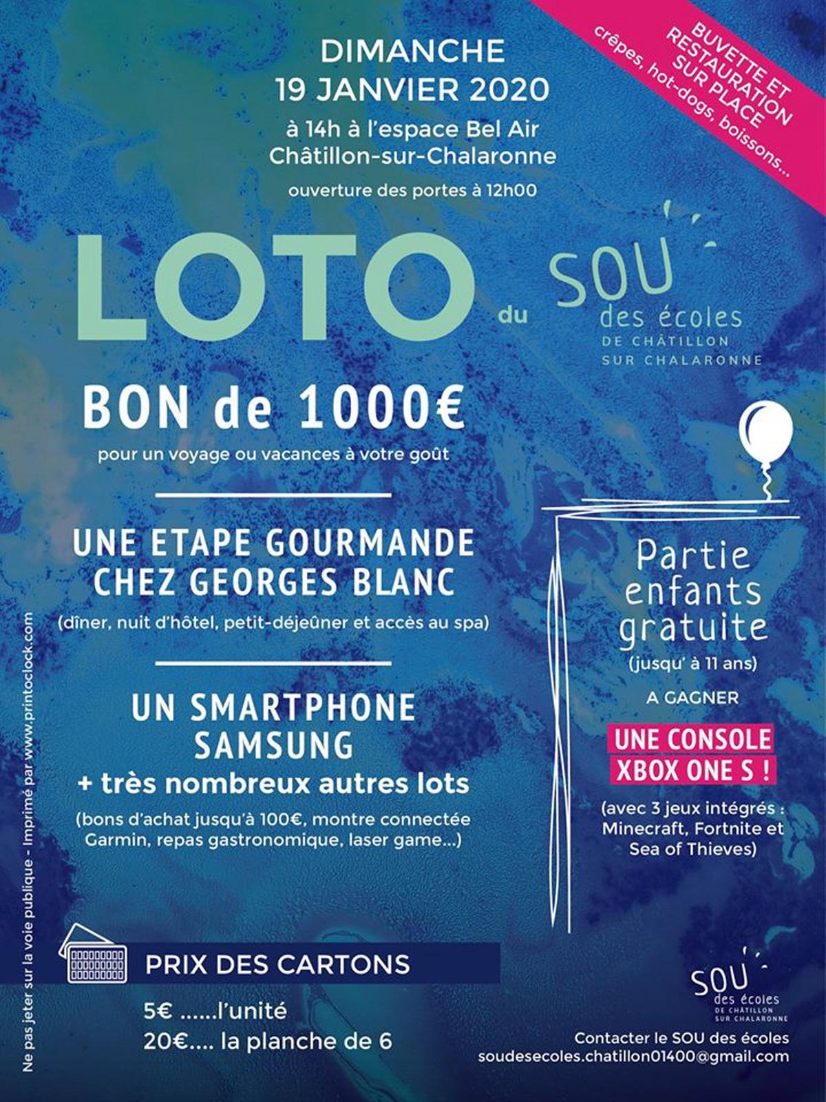 Grand Loto : Loto A Chatillon Sur Chalaronne serapportantà Loto Espace Jeux