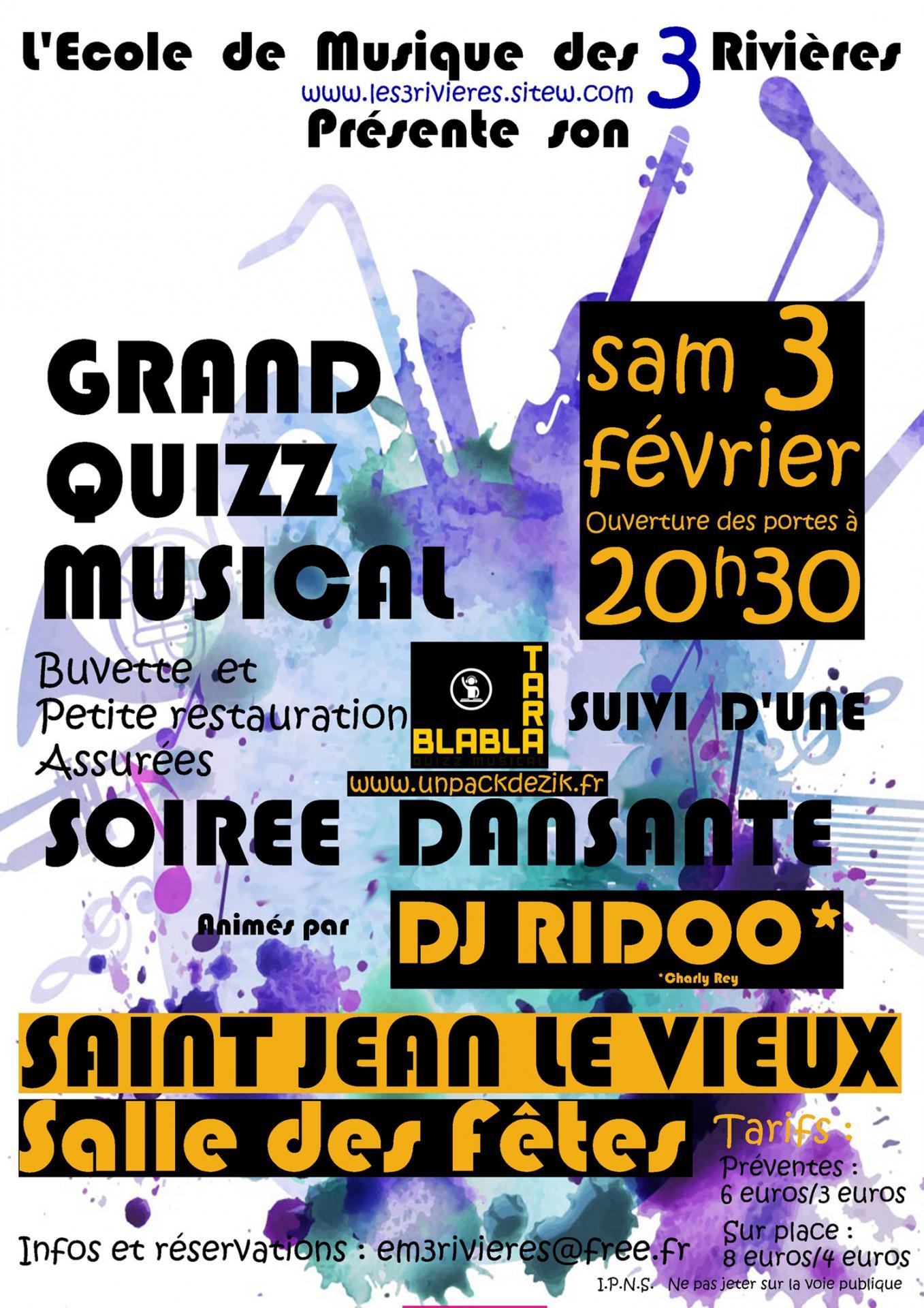 Grand Quizz Musical De L'em3R à Quiz Musical En Ligne