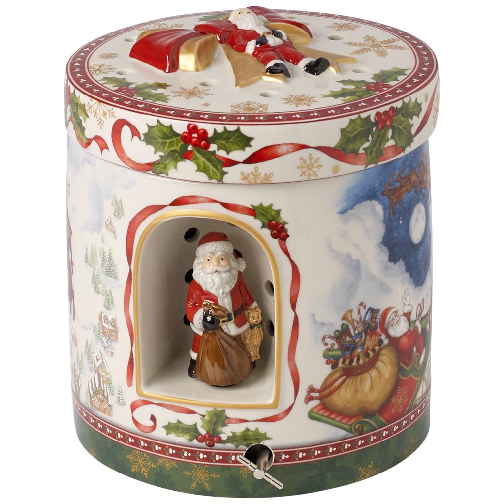 Grande Boite Cadeau Musicale Ronde Envol Pere Noel Christmas Toys Villeroy  Et Boch à Musique Du Père Noël