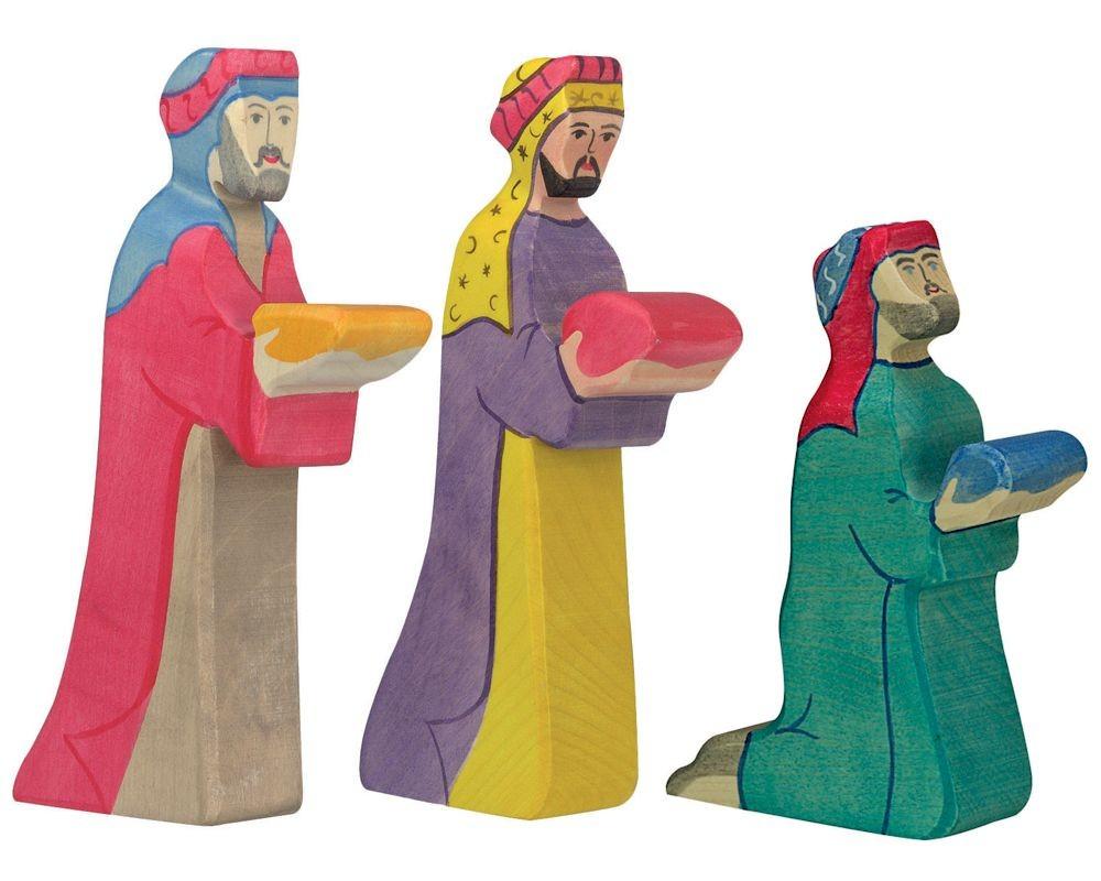 Grande Figurine En Bois Des Rois Mages De Holztiger destiné 3 Roi Mage