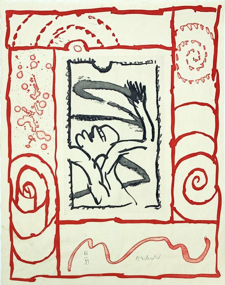Gravure De Pierre Alechinsky, A Bras Le Corps Sur Amorosart destiné Oeuvre Alechinsky