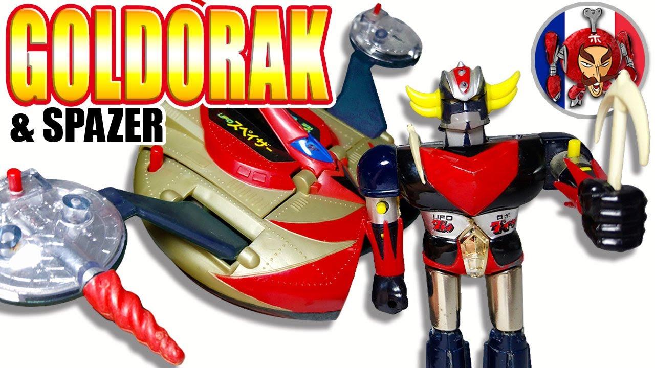 Grendizer + Spazer - Popy Vintage Toys Review intérieur Photos Goldorak Gratuit