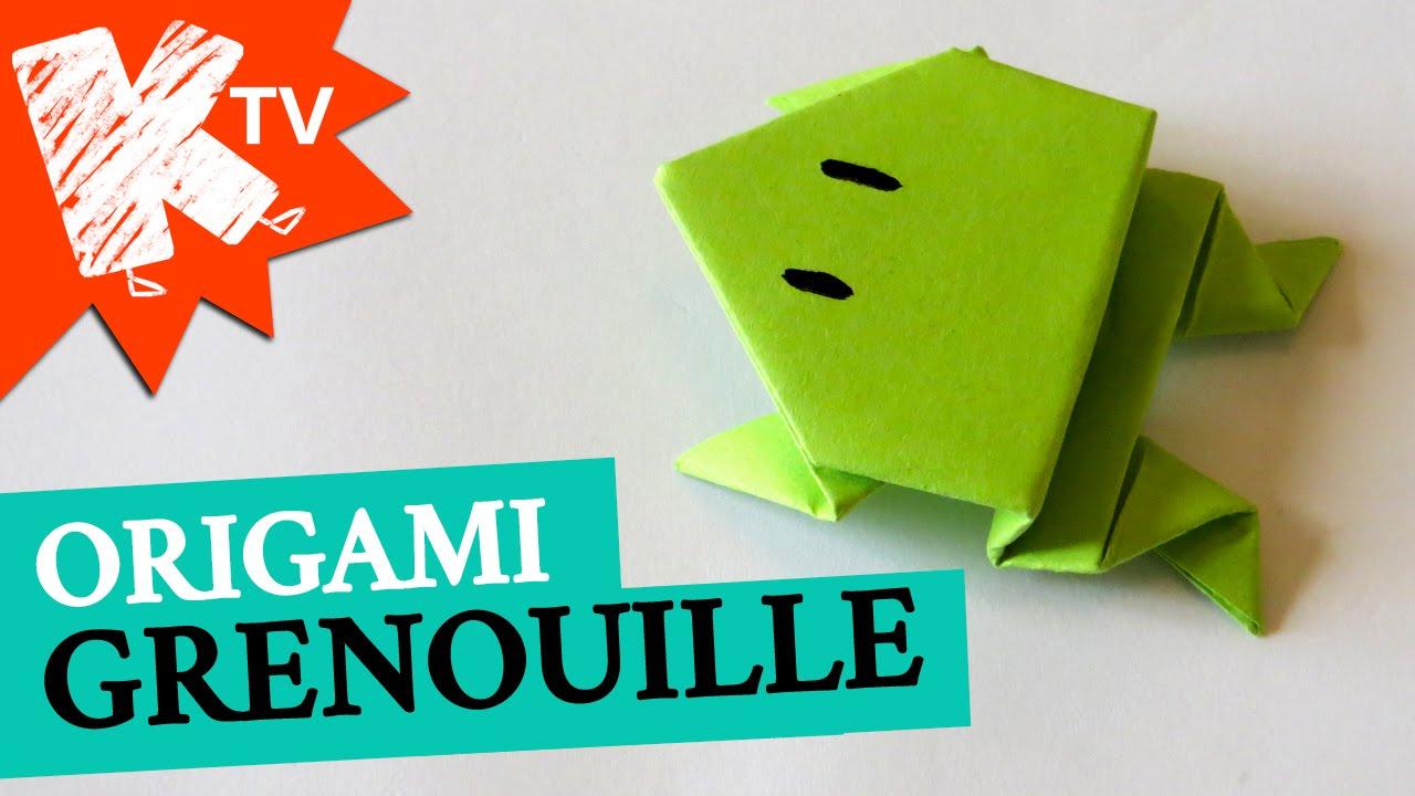 Grenouille En Papier - Origami Facile dedans Origami Facile A Faire En Français