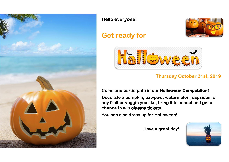 Halloween Competition! – Lycée Français De Port Vila concernant Halloween Ce2