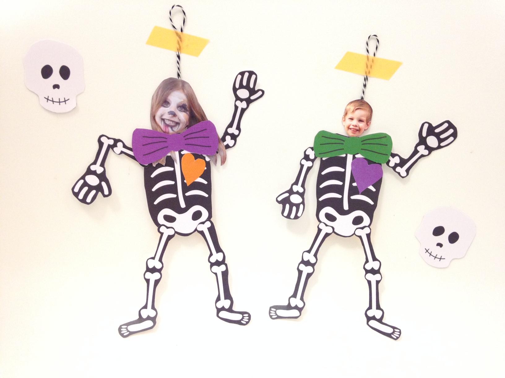 Halloween} Diy Les Squelettes Articulés! dedans Squelette A Imprimer