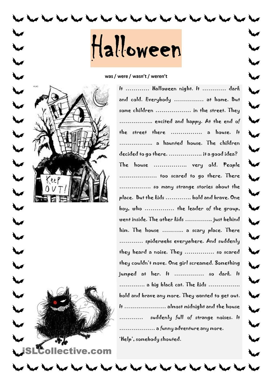 Halloween Was / Were | Anglais Ce2, Éducation, Activités avec Halloween Ce2