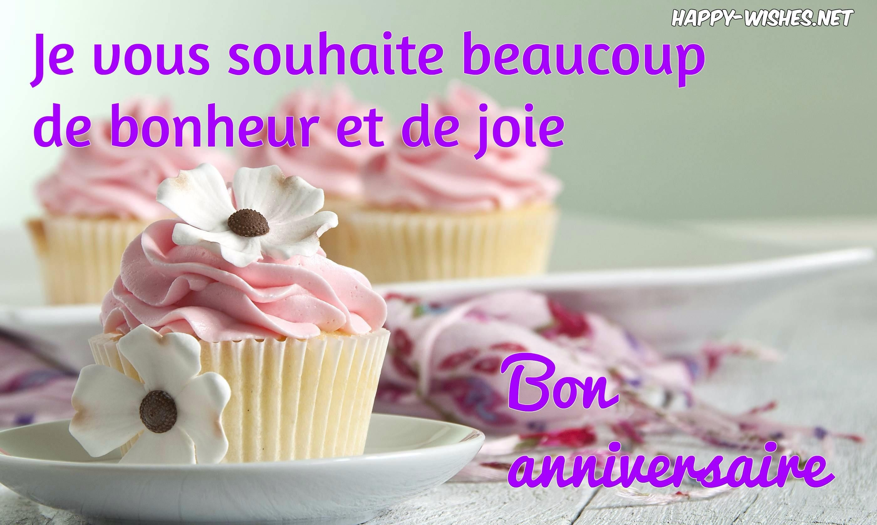 Happy Birthday (Bon Anniversaire) Wishes In French encequiconcerne Bon The Bonheur