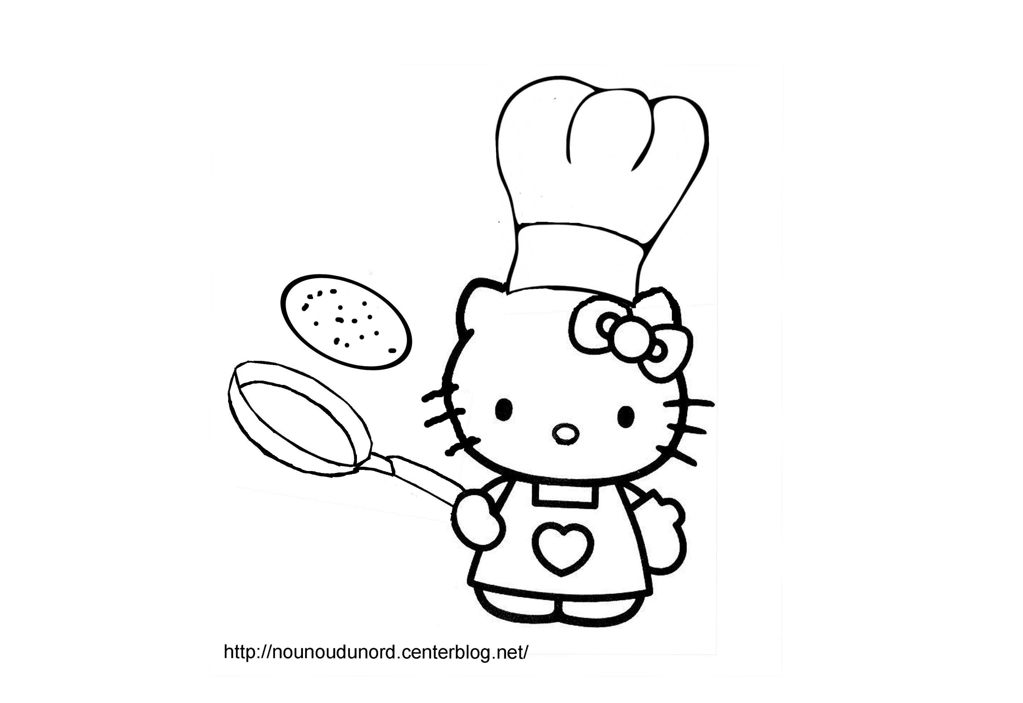Hello Kitty #163 (Dessins Animés) – Coloriages À Imprimer dedans Coloriage Février