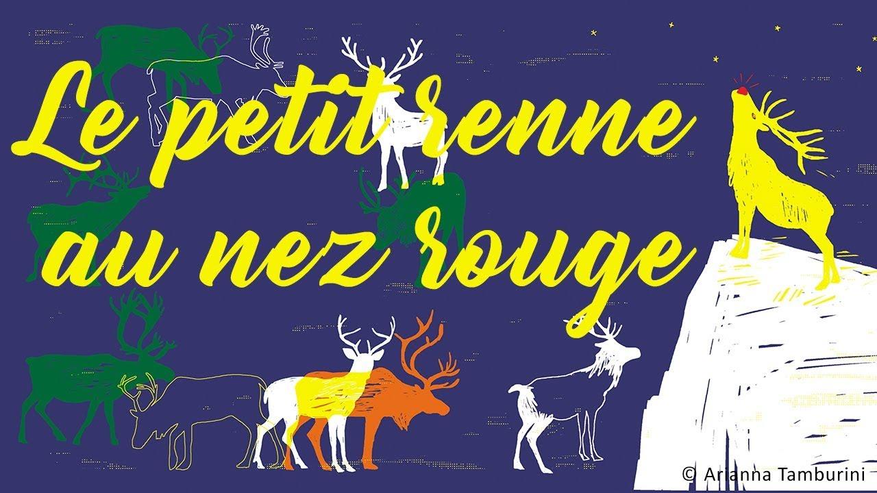 Henri Dès - Le Petit Renne Au Nez Rouge - Chanson Pour Enfants encequiconcerne Chanson Dans Son Manteau Rouge Et Blanc