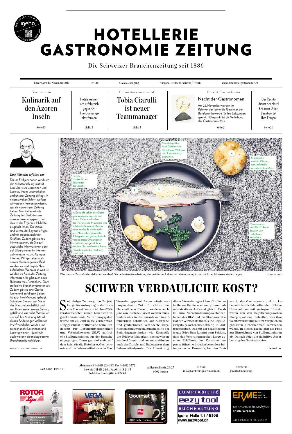 Hg-Zeitung 35/2015 By Hotellerie_Gastronomie_Verlag - Issuu dedans Idées Activités Tap Primaire