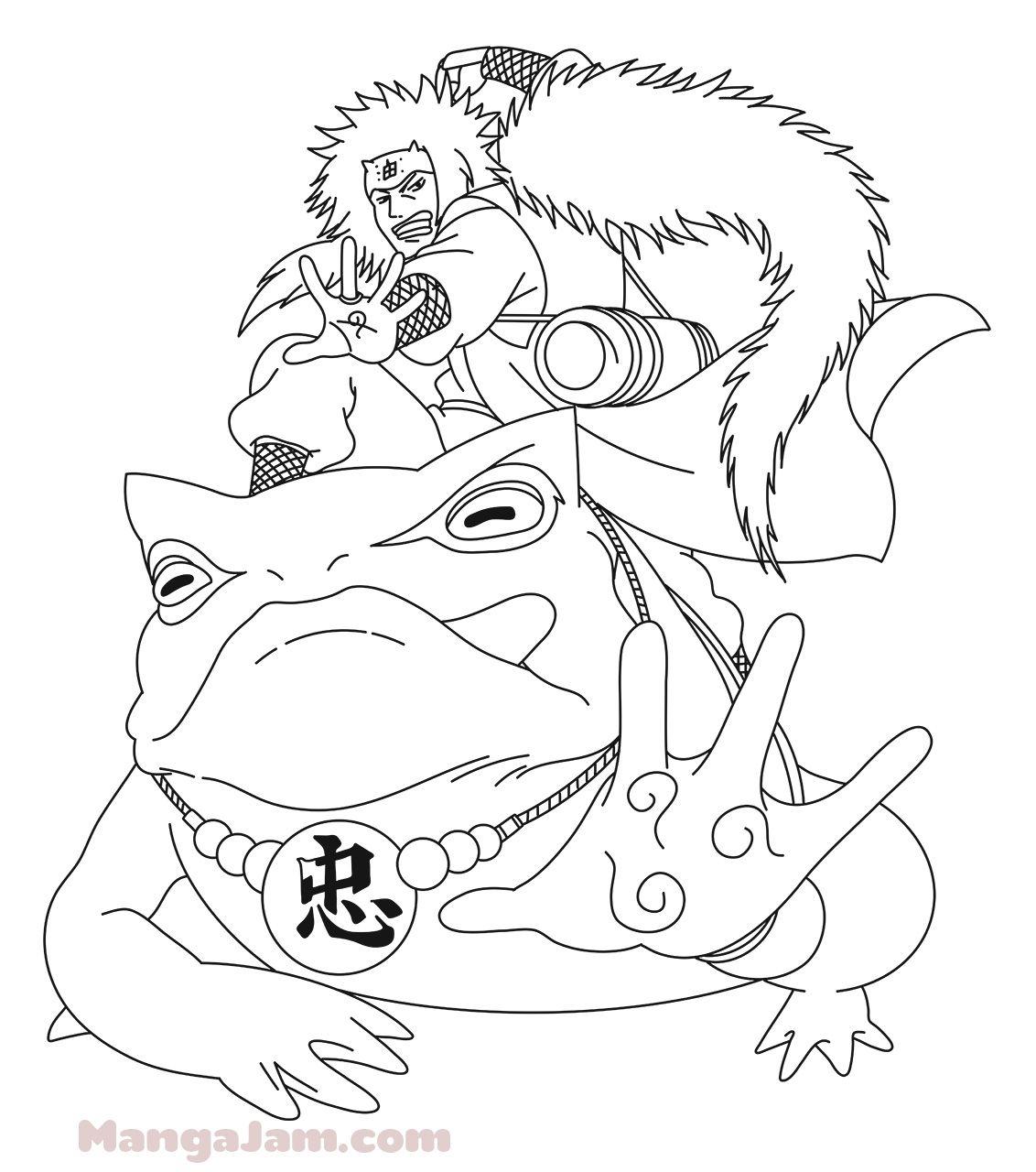 How To Draw Gamabunta With Jiraya From Naruto | Jiraya Naruto concernant Coloriage De Naruto Shippuden A Imprimer
