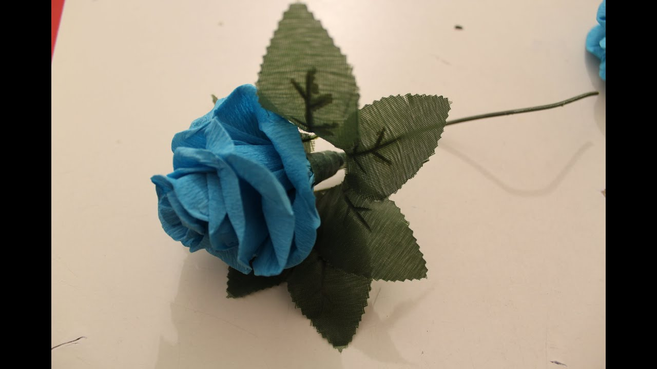 How To Make A Beautiful Real Looking Paper Rose/comment Realiser De Belles  Roses En Papier Crepon encequiconcerne Realisation Papier Crepon