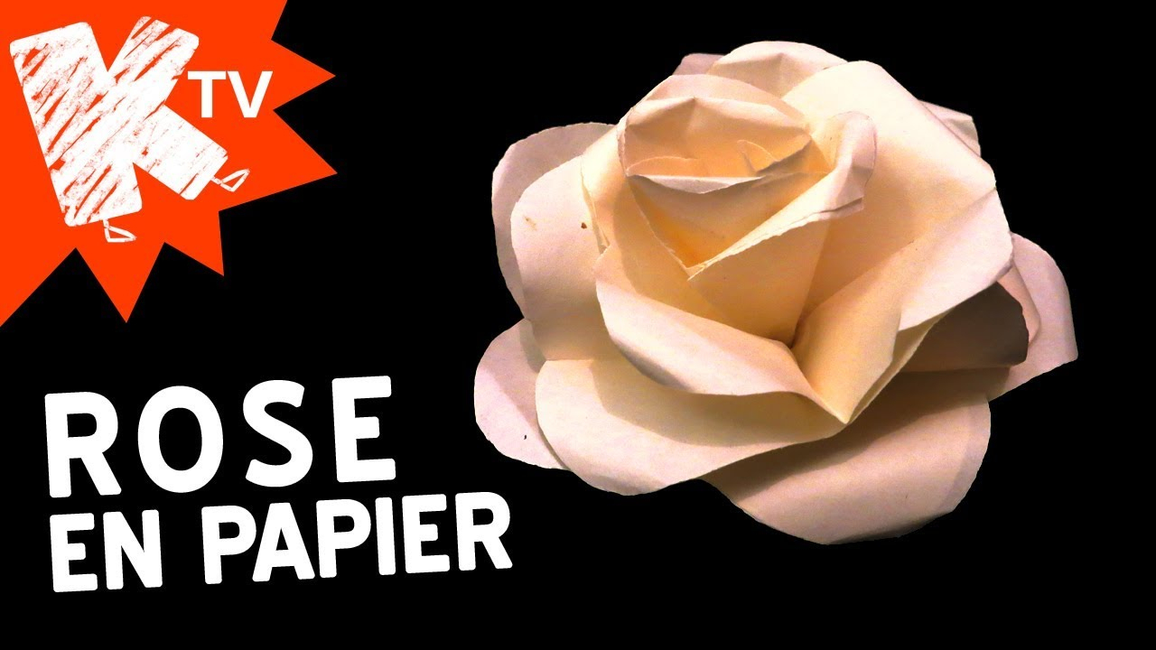 How To Make Easy Paper Rose concernant Origami Rose Facile A Faire
