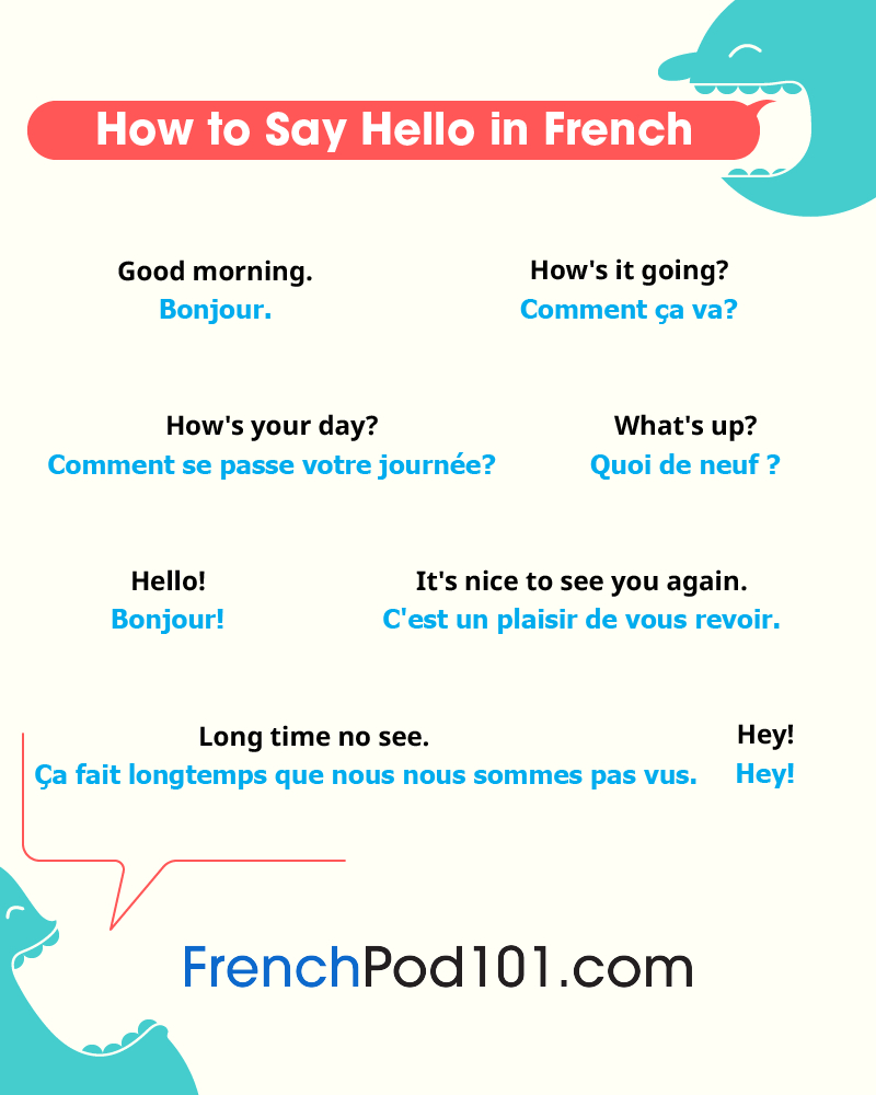 How To Say Hello In French: Guide To French Greetings destiné Bonjour Monsieur Comment Ca Va