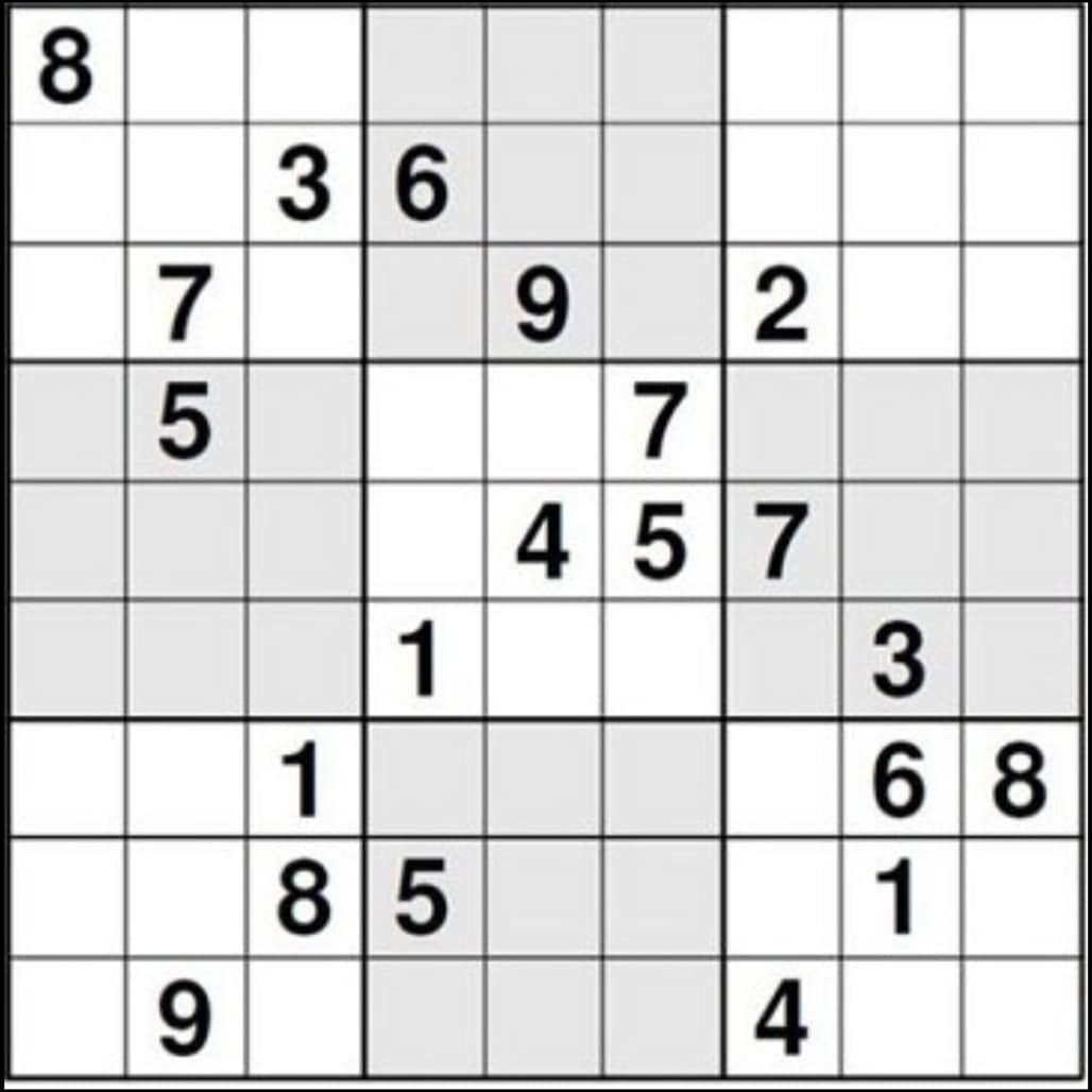 I Heard That This Is The Most Difficult Sudoku Problem. The tout Sudoku Grande Section