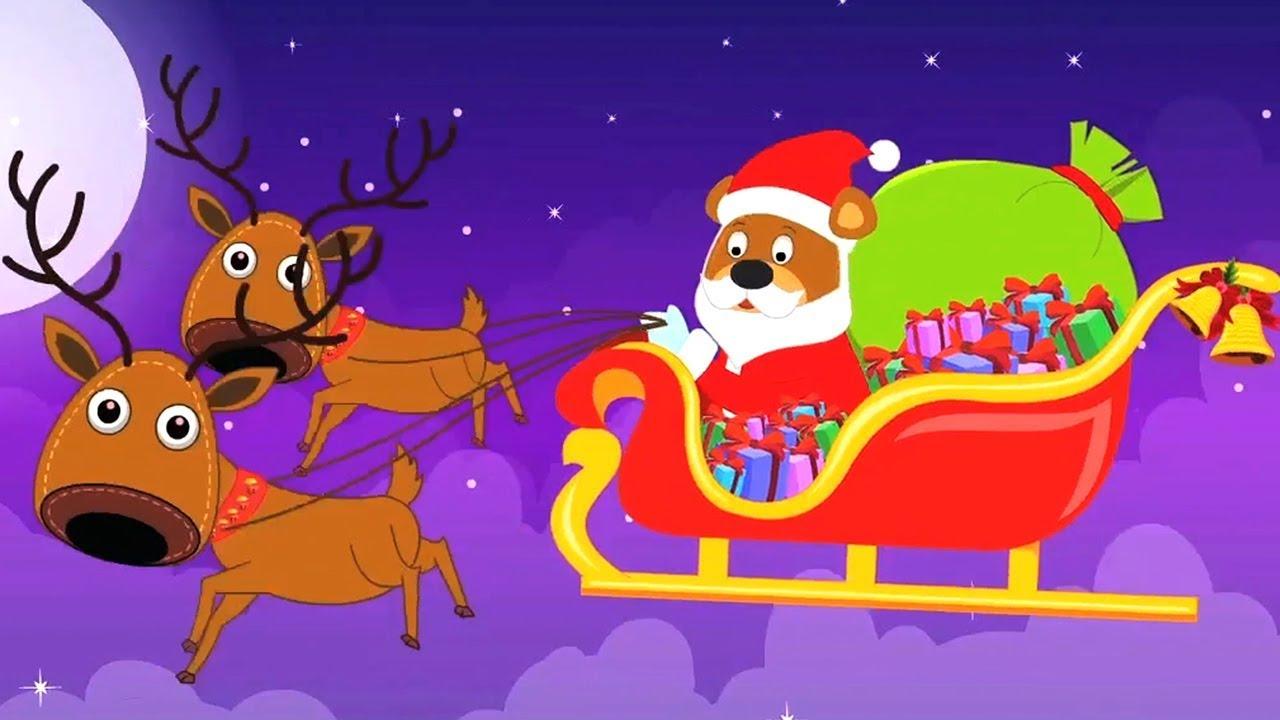 Ici Vient Monsieur Santa | Noël Chanson | Père Noël Chanson | Joyeux Noël |  Here Comes Mister Santa tout Musique Du Père Noël