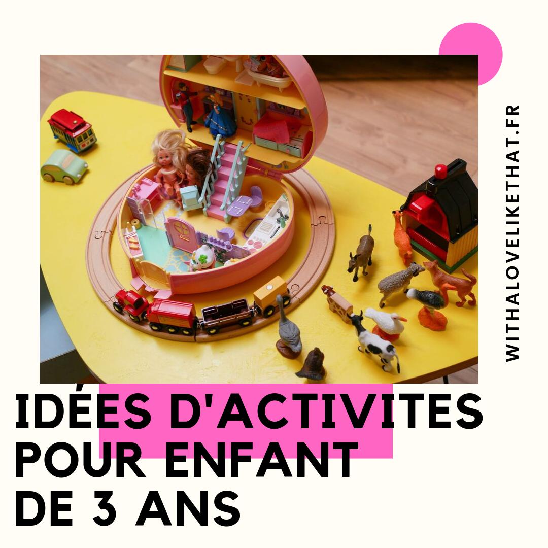 Idées D'activités Pour Un Enfant De 3 Ans - With A Love Like dedans Jeux Pour Enfant De 3 Ans