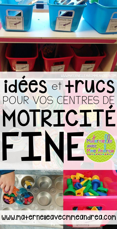 Idées Et Trucs Pour Vos Centres De Motricité Fine destiné Idées Activités Tap Primaire