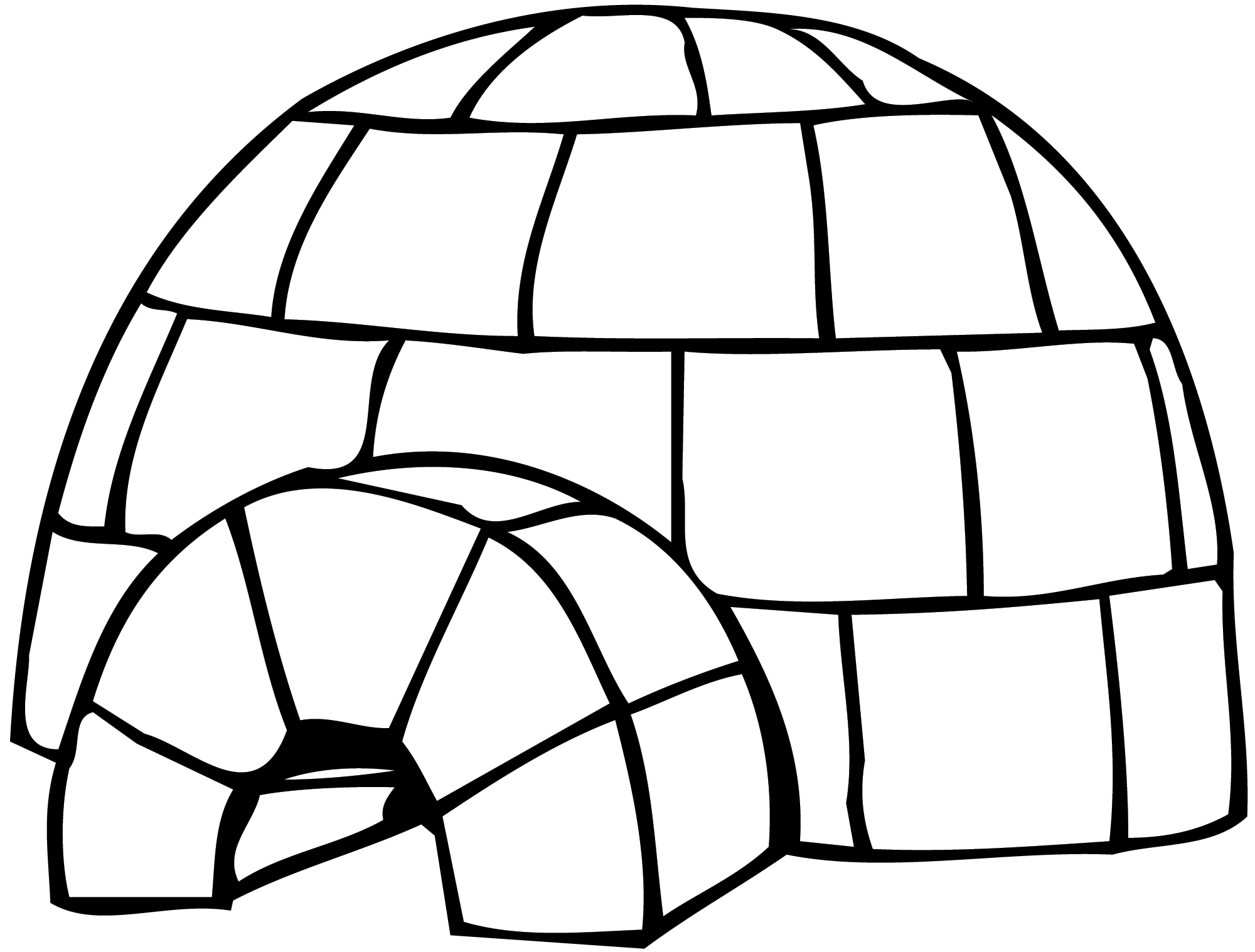 Igloo #2 (Bâtiments Et Architecture) – Coloriages À Imprimer serapportantà Coloriage Igloo
