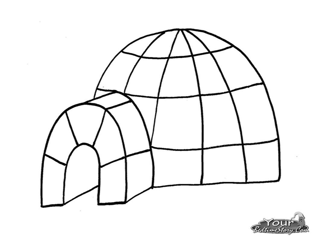 Igloo #25 (Bâtiments Et Architecture) – Coloriages À Imprimer pour Coloriage Igloo