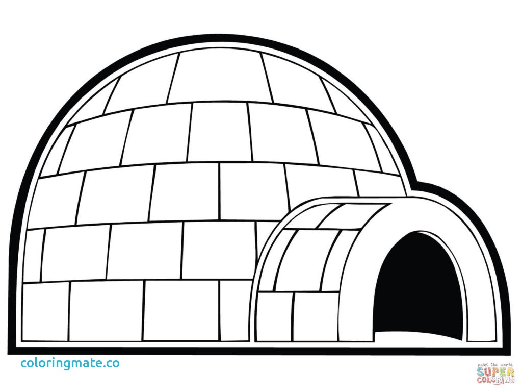 Igloo Coloring Pages Free Coloring Library avec Coloriage Igloo