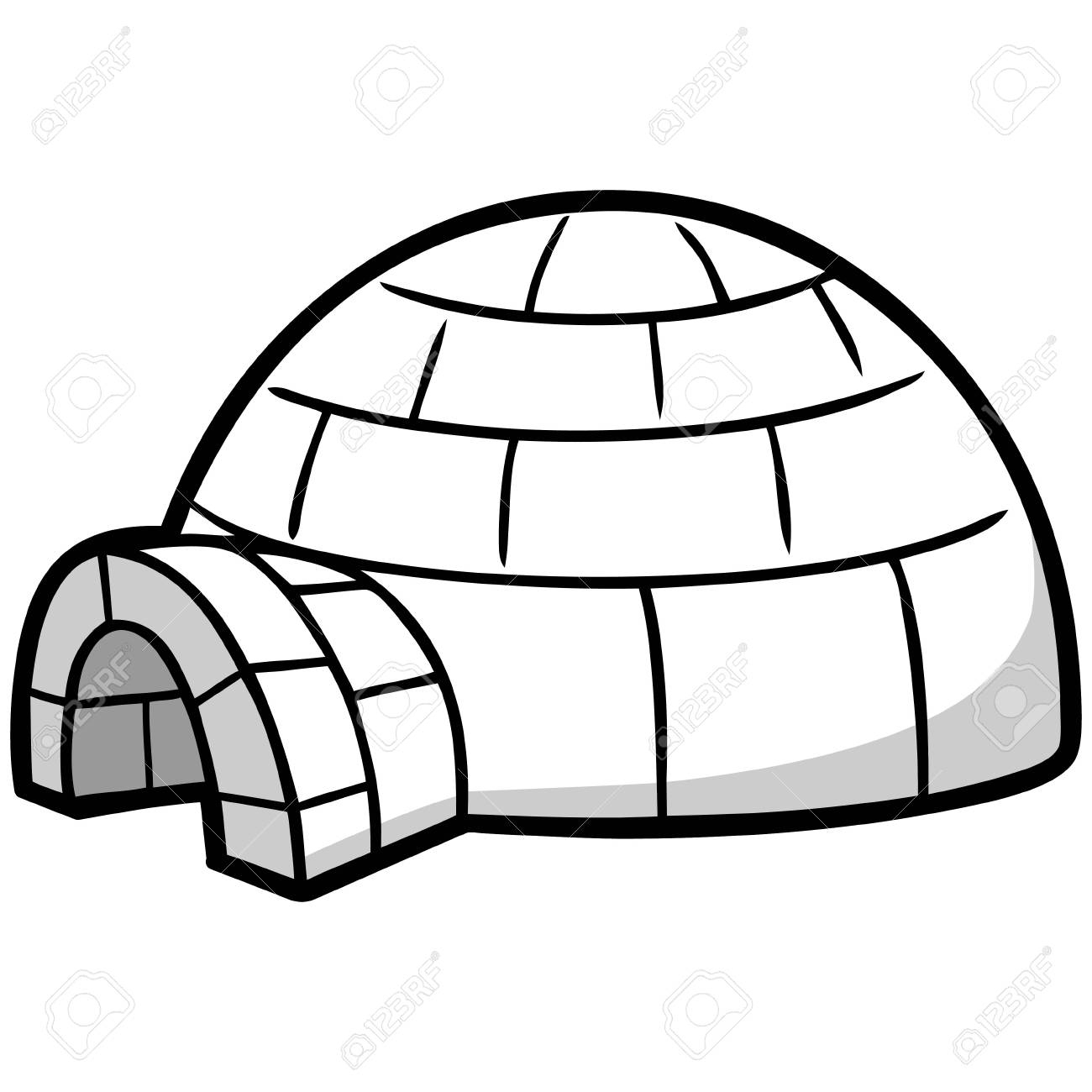 Igloo Drawing At Getdrawings | Free Download à Coloriage Igloo