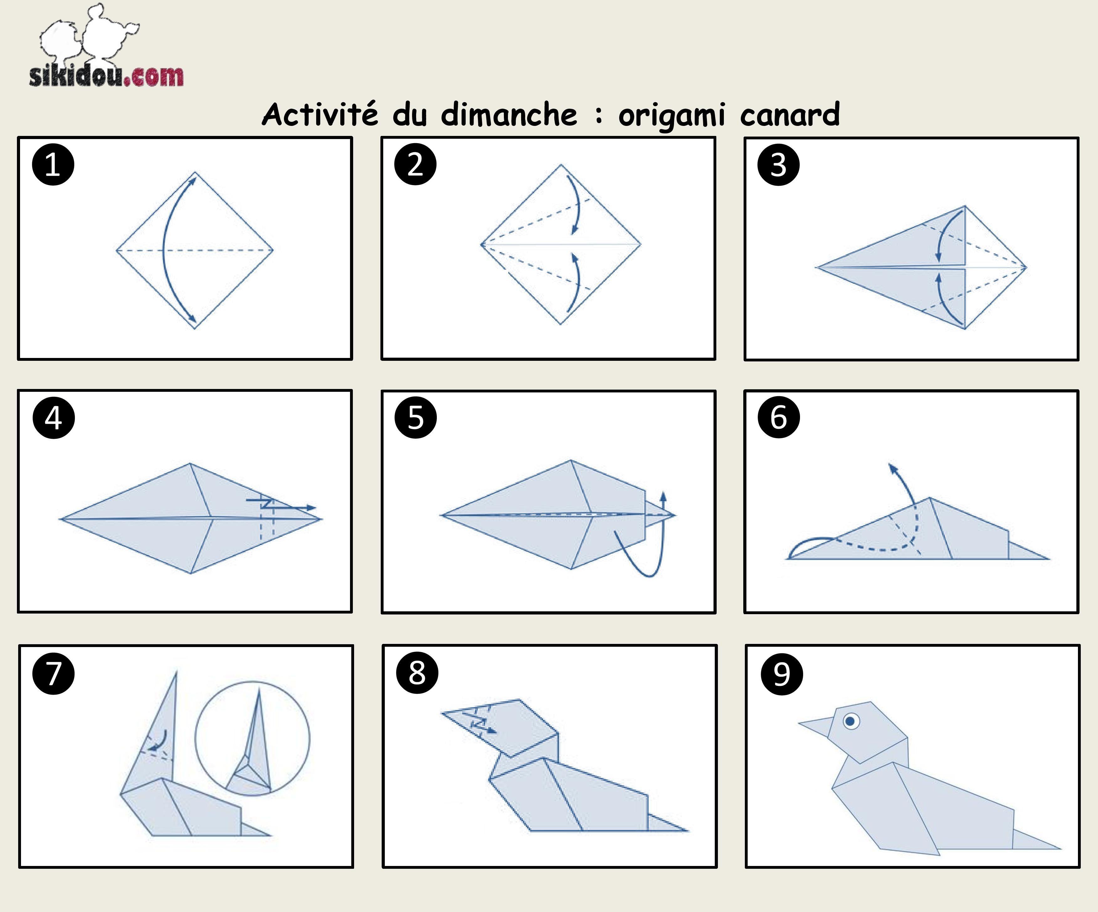 Il Fait Un Froid De Canard, Vous Ne Trouvez Pas à Origami Canard